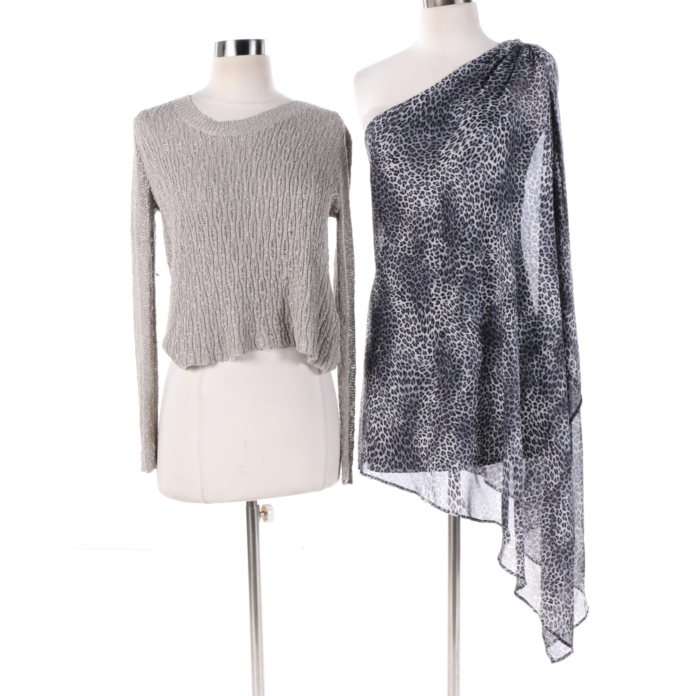 Guess by Marciano One-Shoulder Tunic and Helmut Lang Pullover