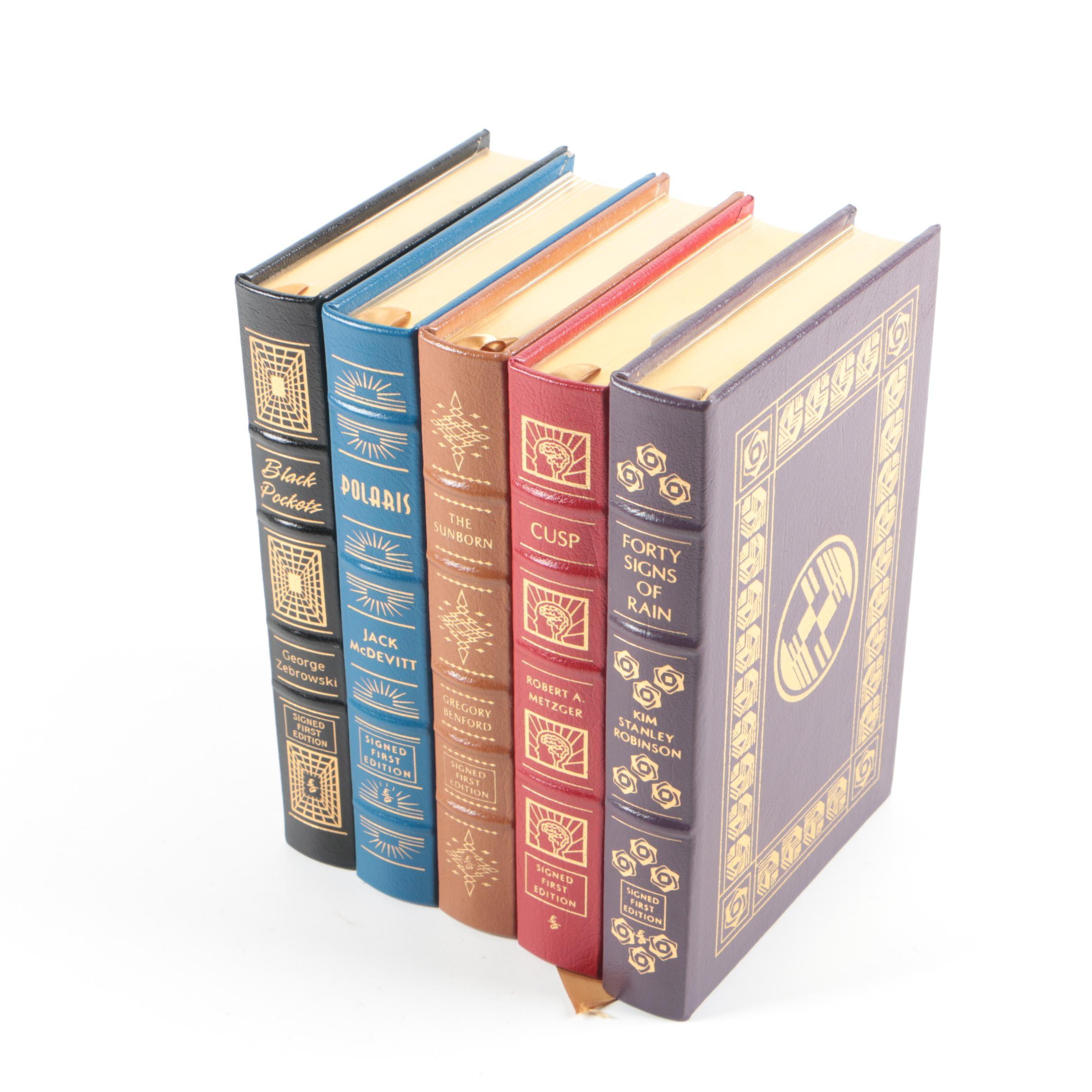 "Easton Press Signed Leather Bound Books Including ""Polaris"" by Jack McDevitt"