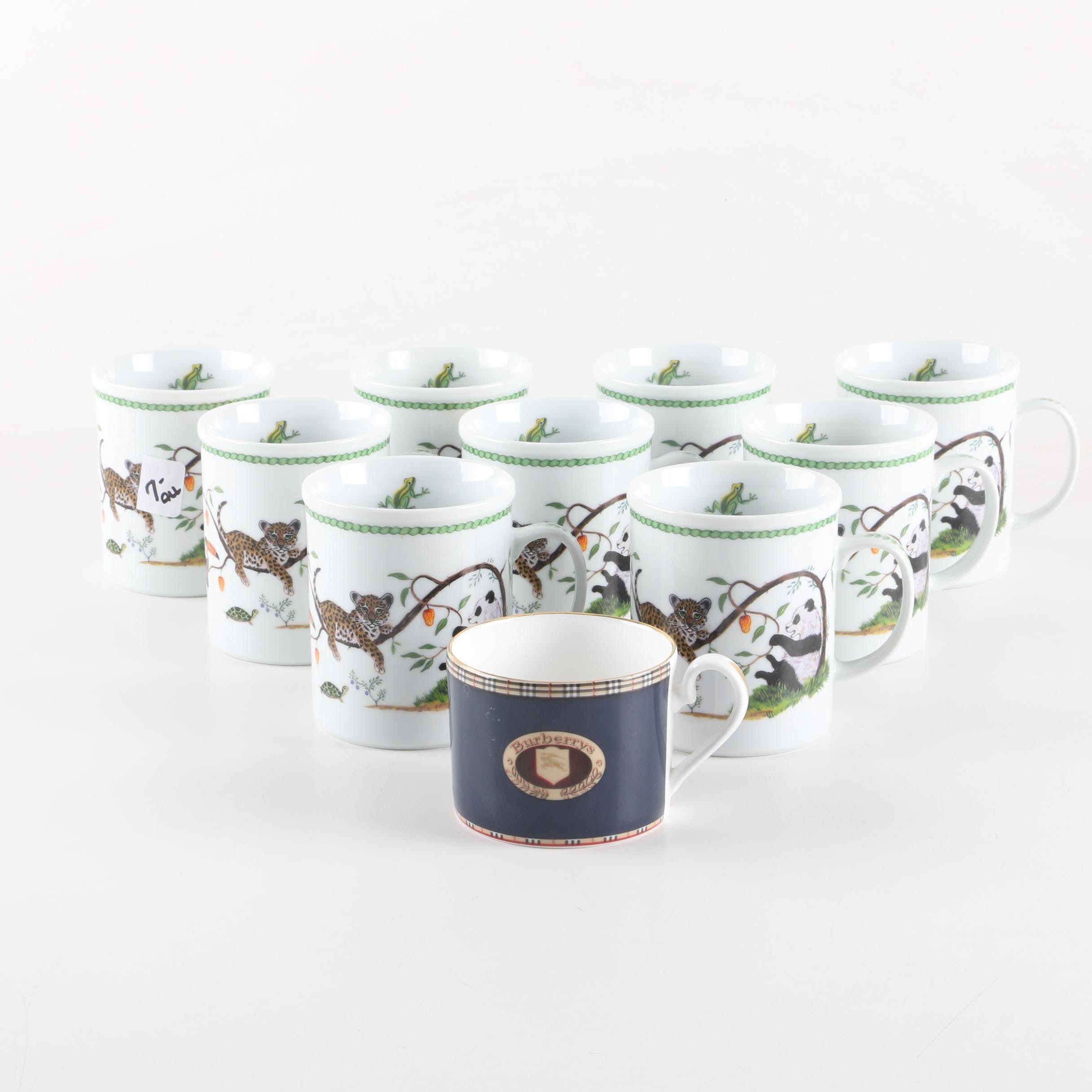 "Chase ""Jungle Party"" Mugs Featuring with Burberrys of London Cup"