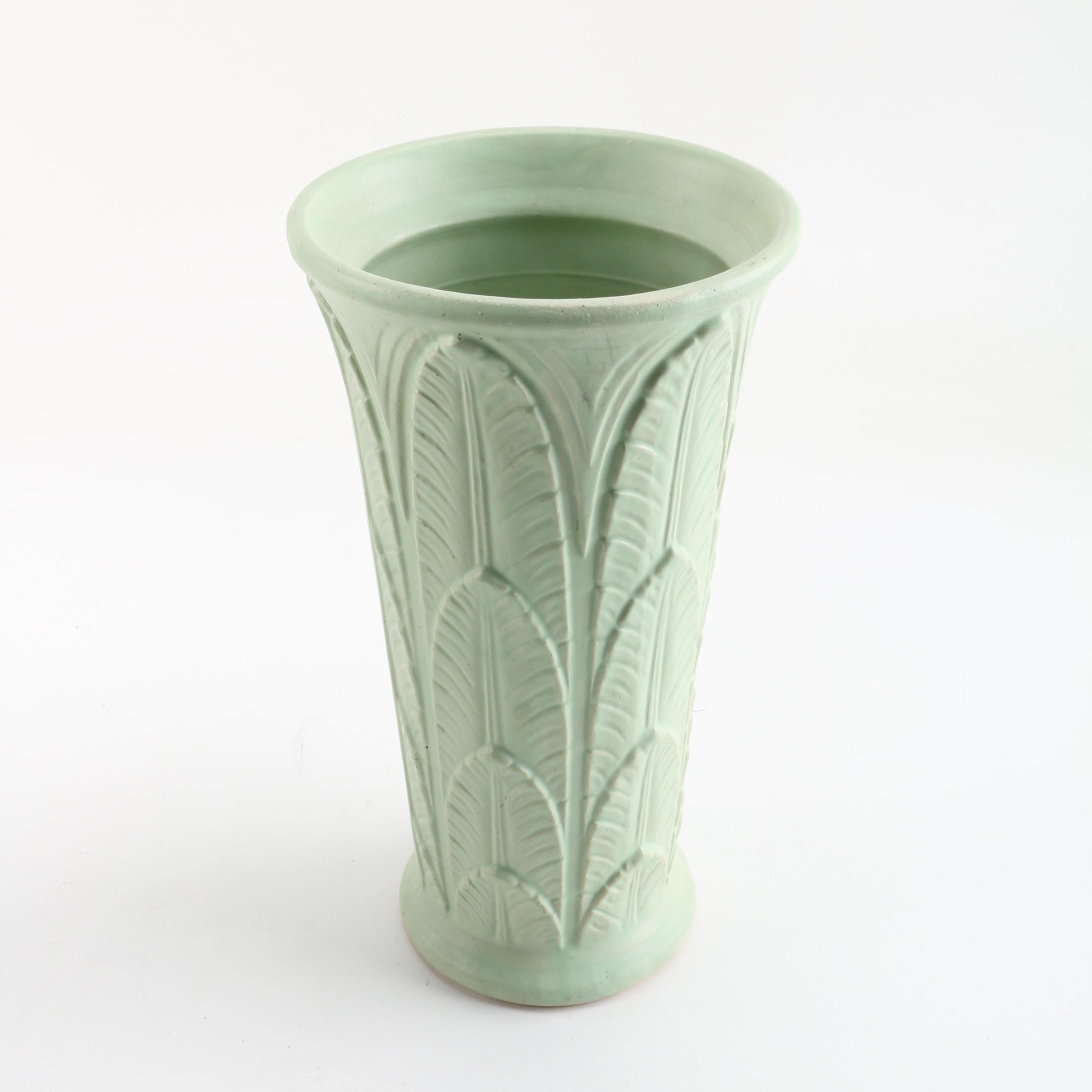 Robinson Ransbottom Pottery Palm Frond Vase