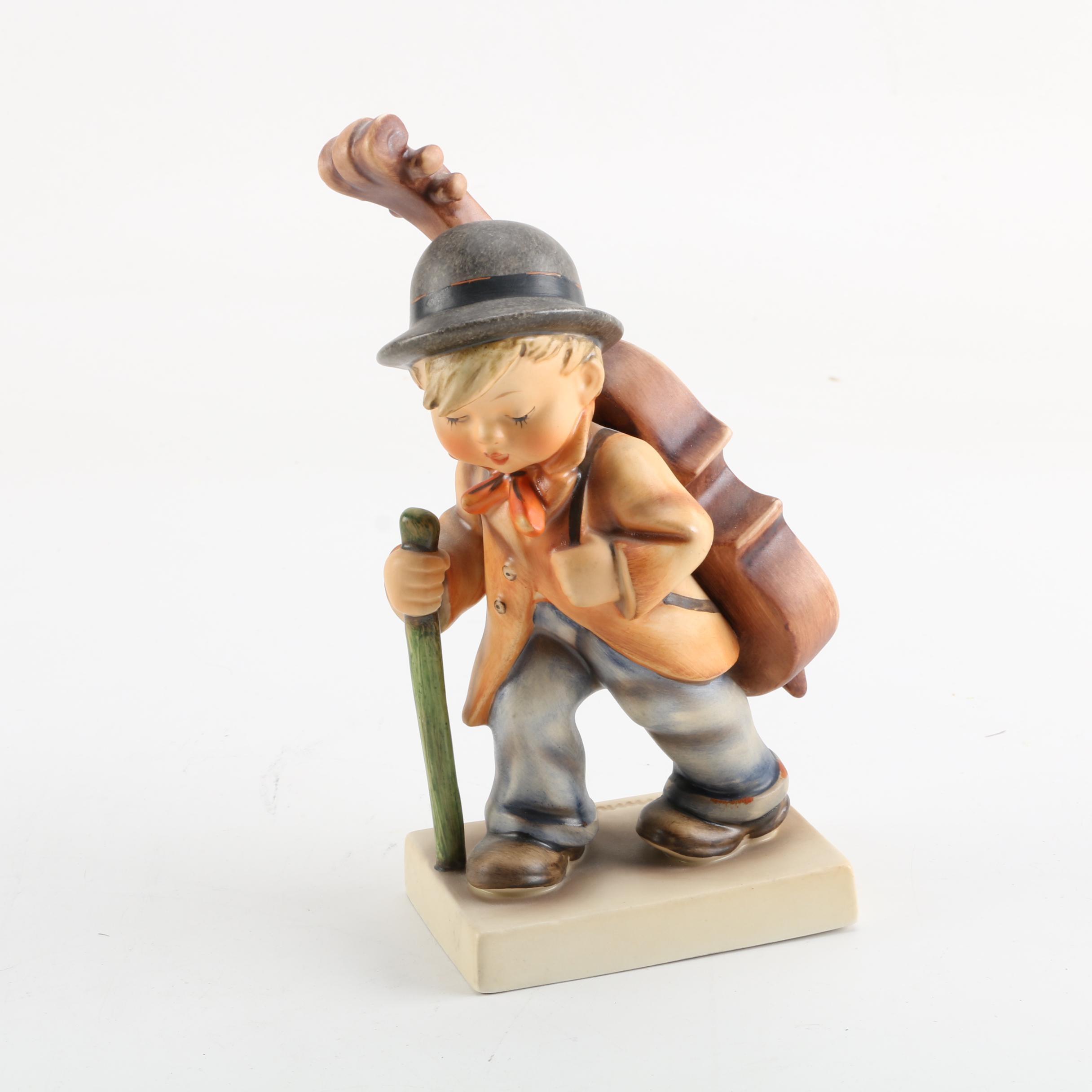 "Goebel Hummel TMK-3 ""Little Cellist"" Porcelain Figurine"