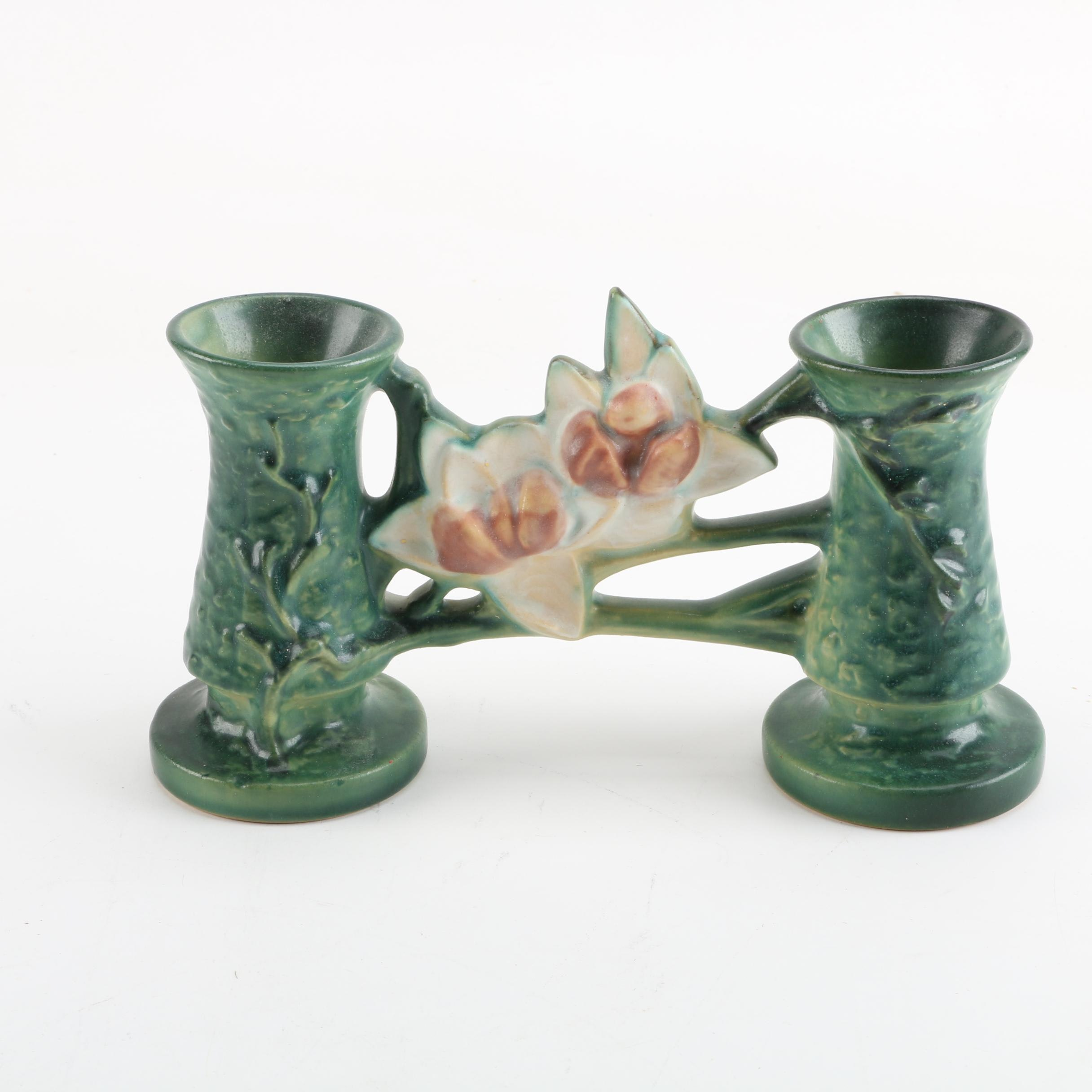 "1940s Roseville Pottery ""Magnolia"" Gate Vase"