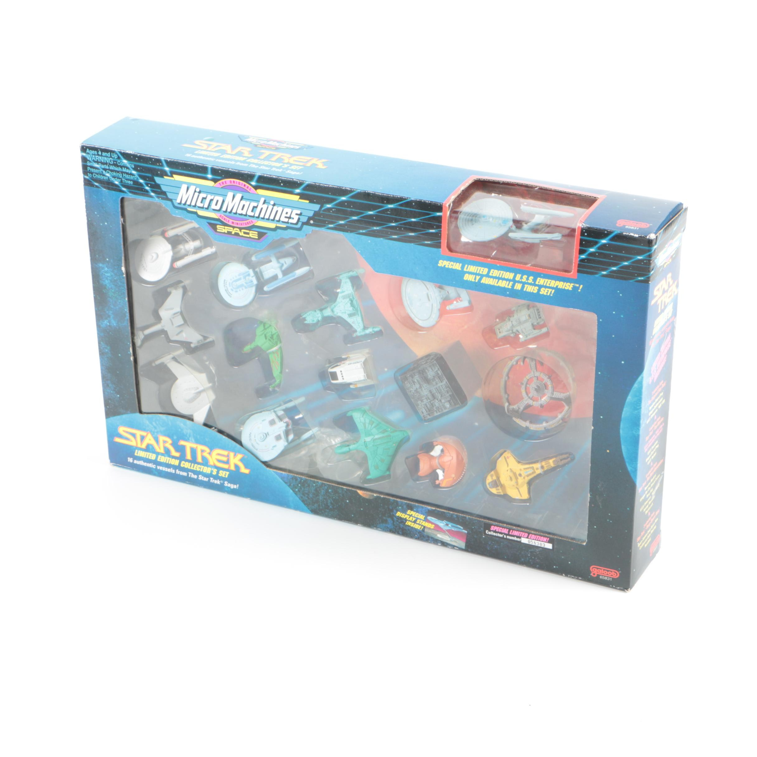 """Limited Edition Collector's """"Star Trek"""" Micro Machines Set"""