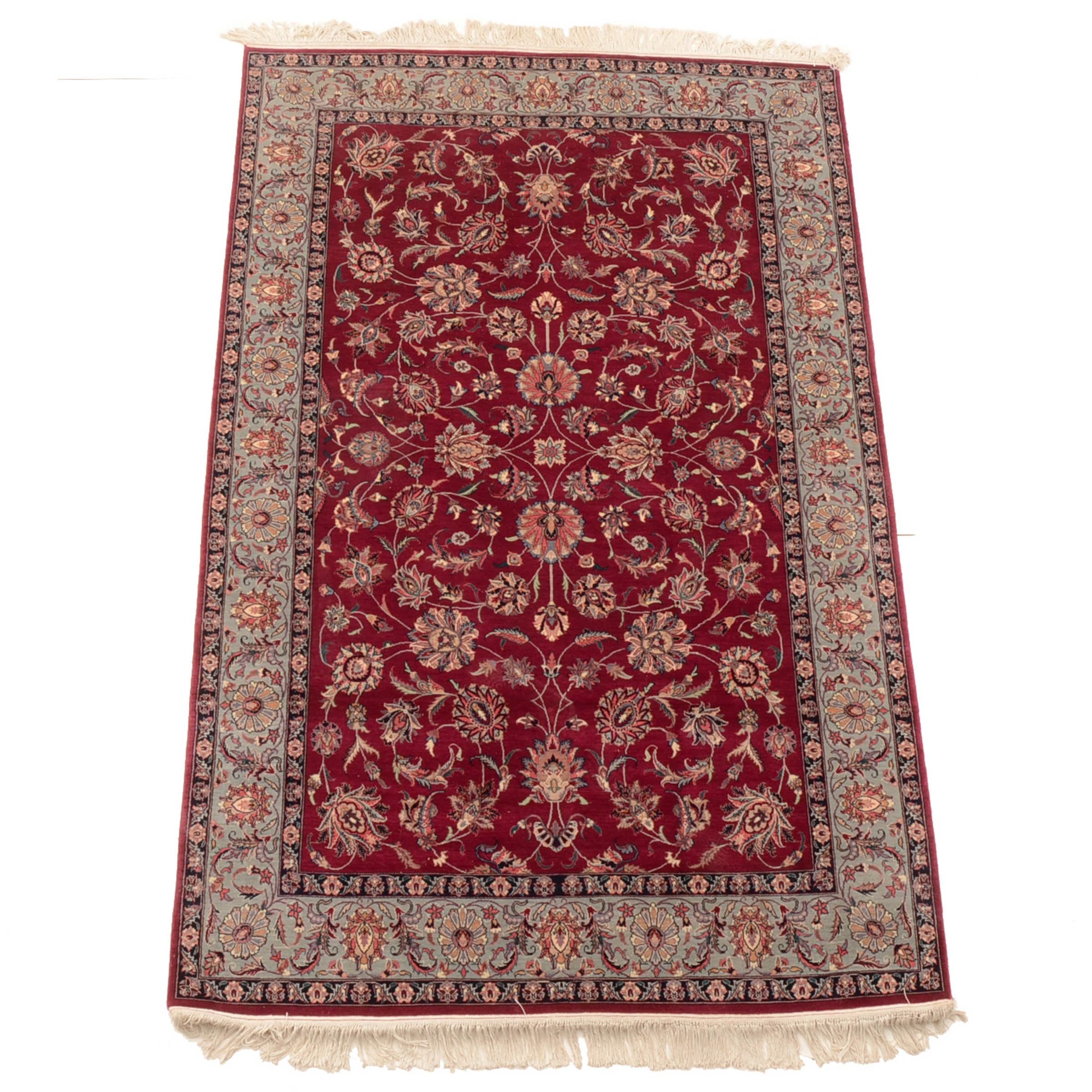 Hand-Knotted Persian Isfahan Style Area Rug