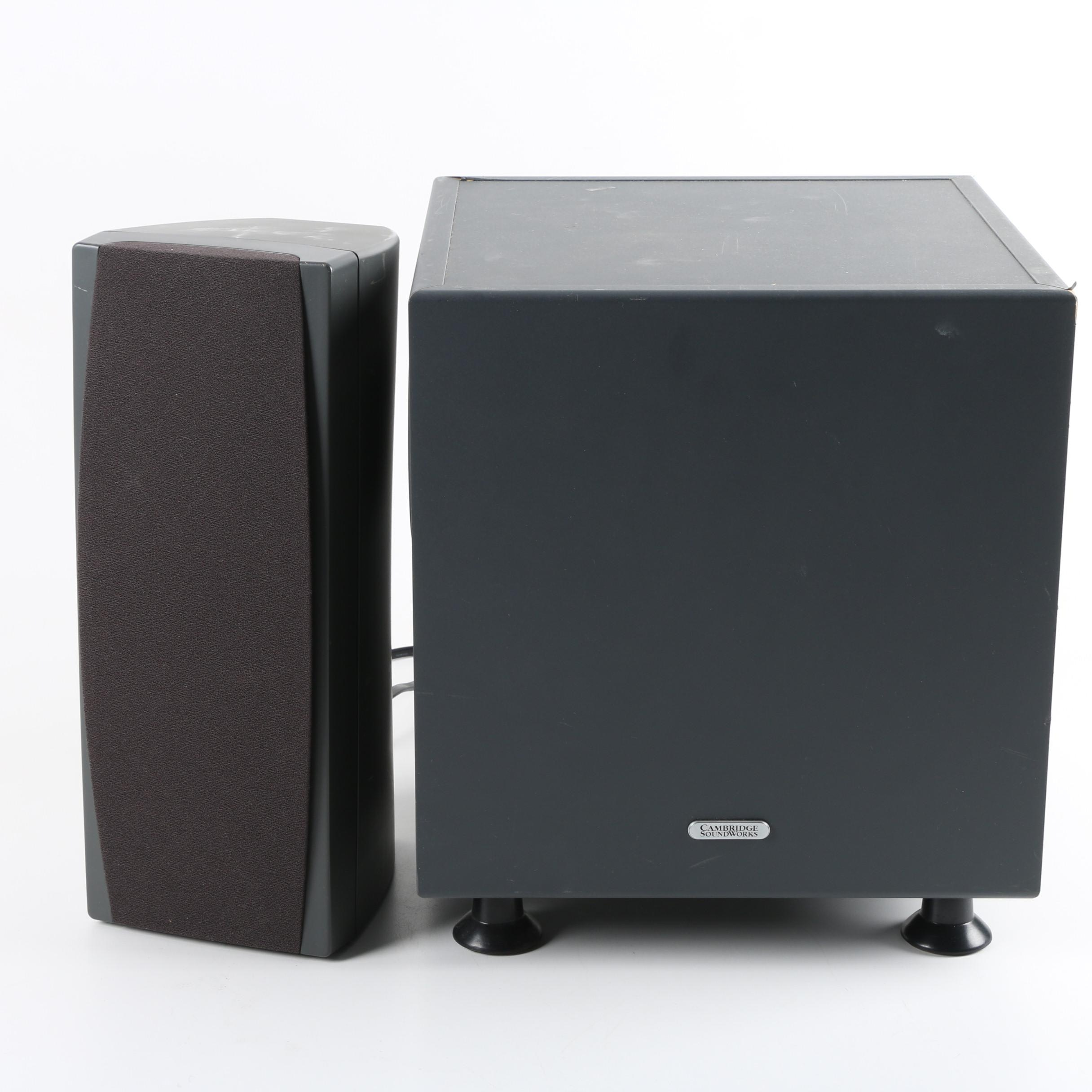 Cambridge Soundworks BassCube 8S Subwoofer and MC300 LCR Loudspeaker