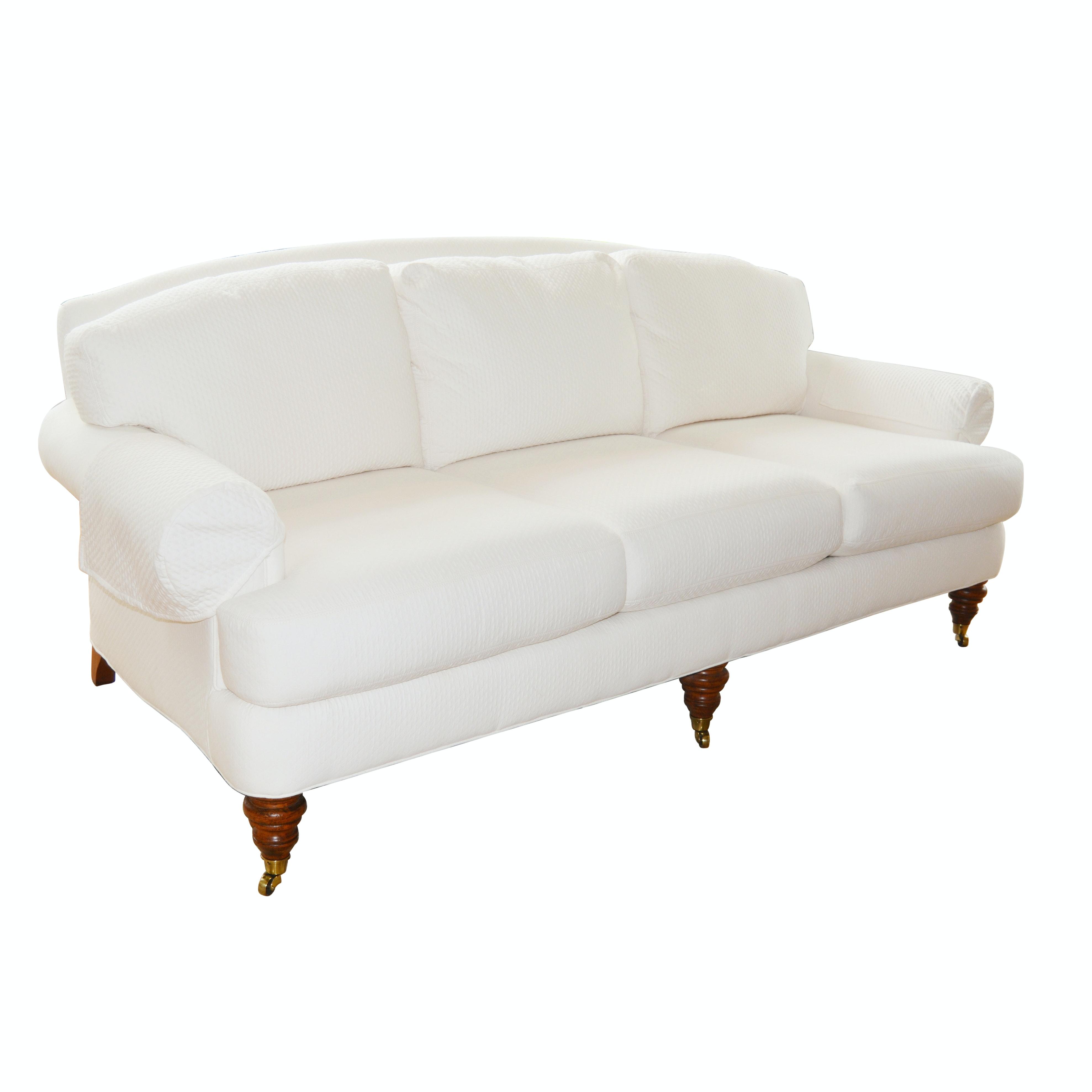 Lillian August White Upholstered Sofa ...