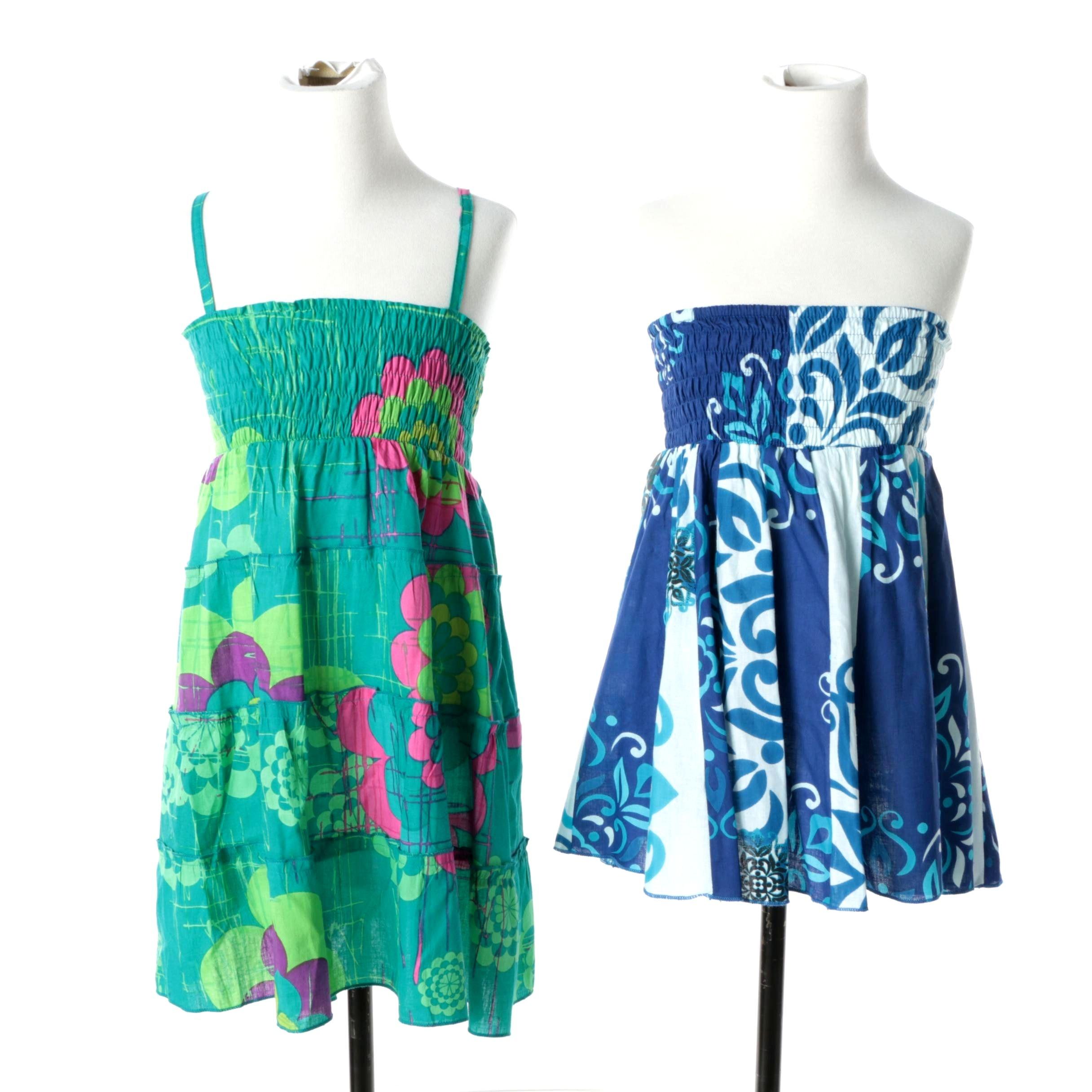 Girls' Aller Simplement Blue Smocked Dress and Skirt