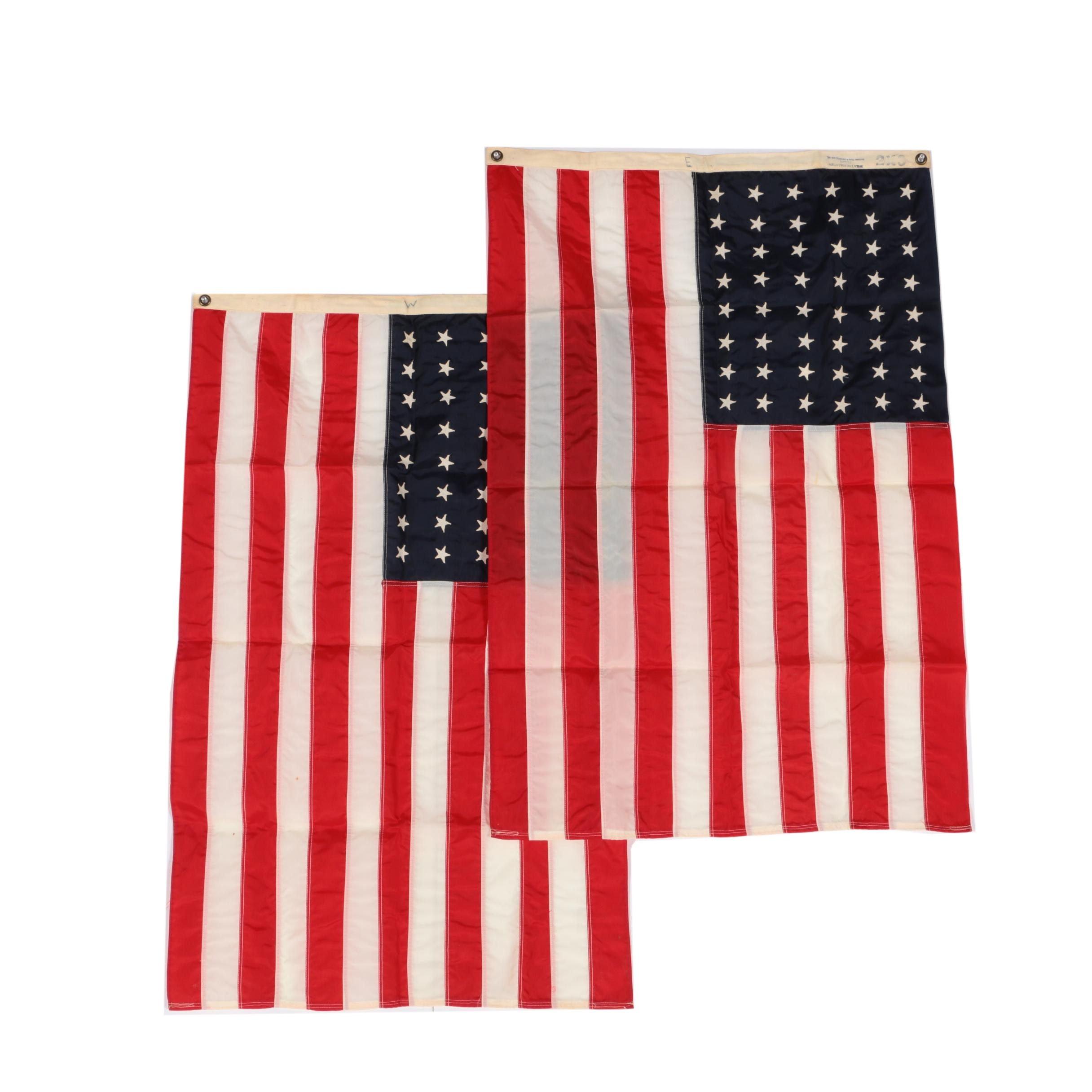 Vintage Nylon 48 Star American Flags
