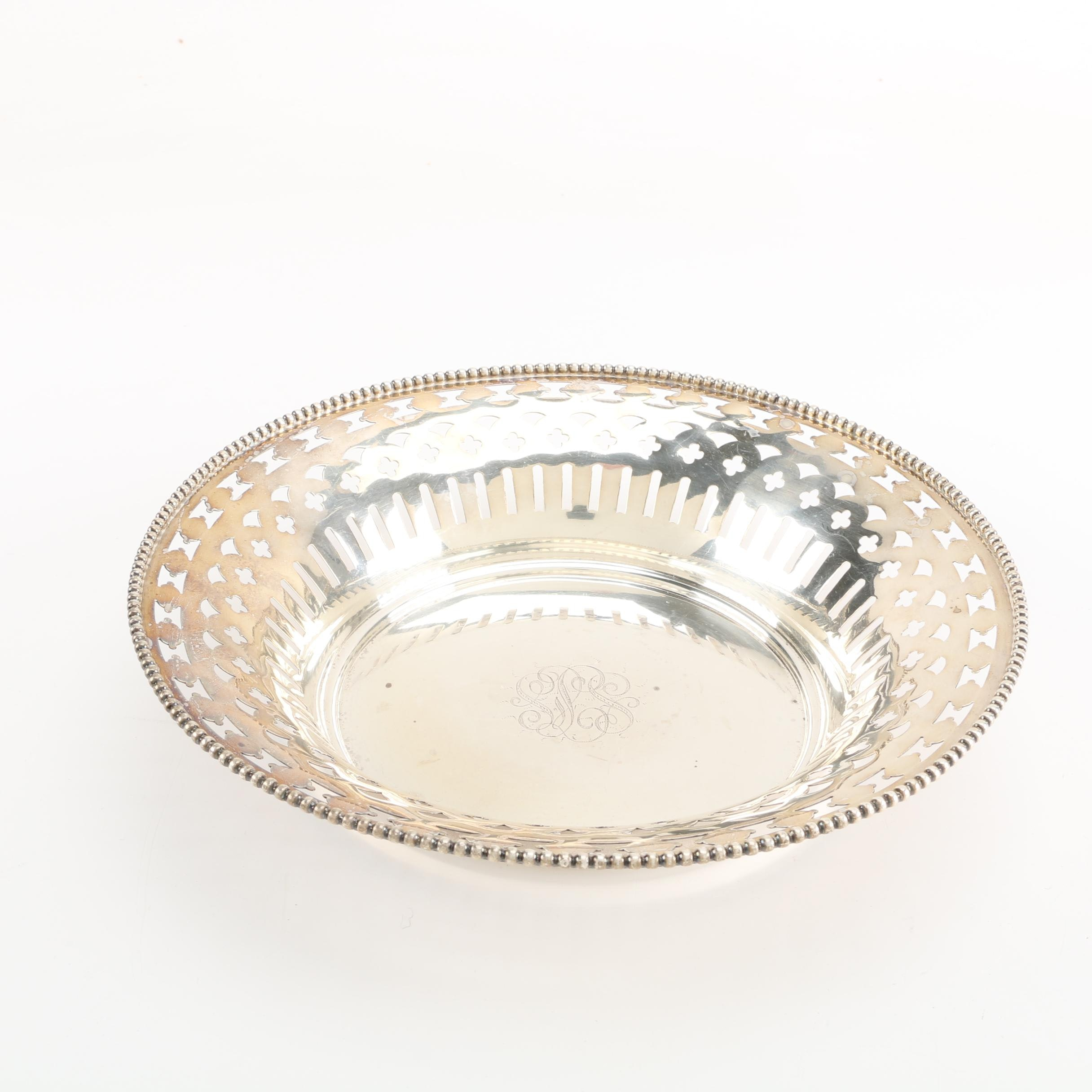 Sterling Silver Bowl with Openwork Sides