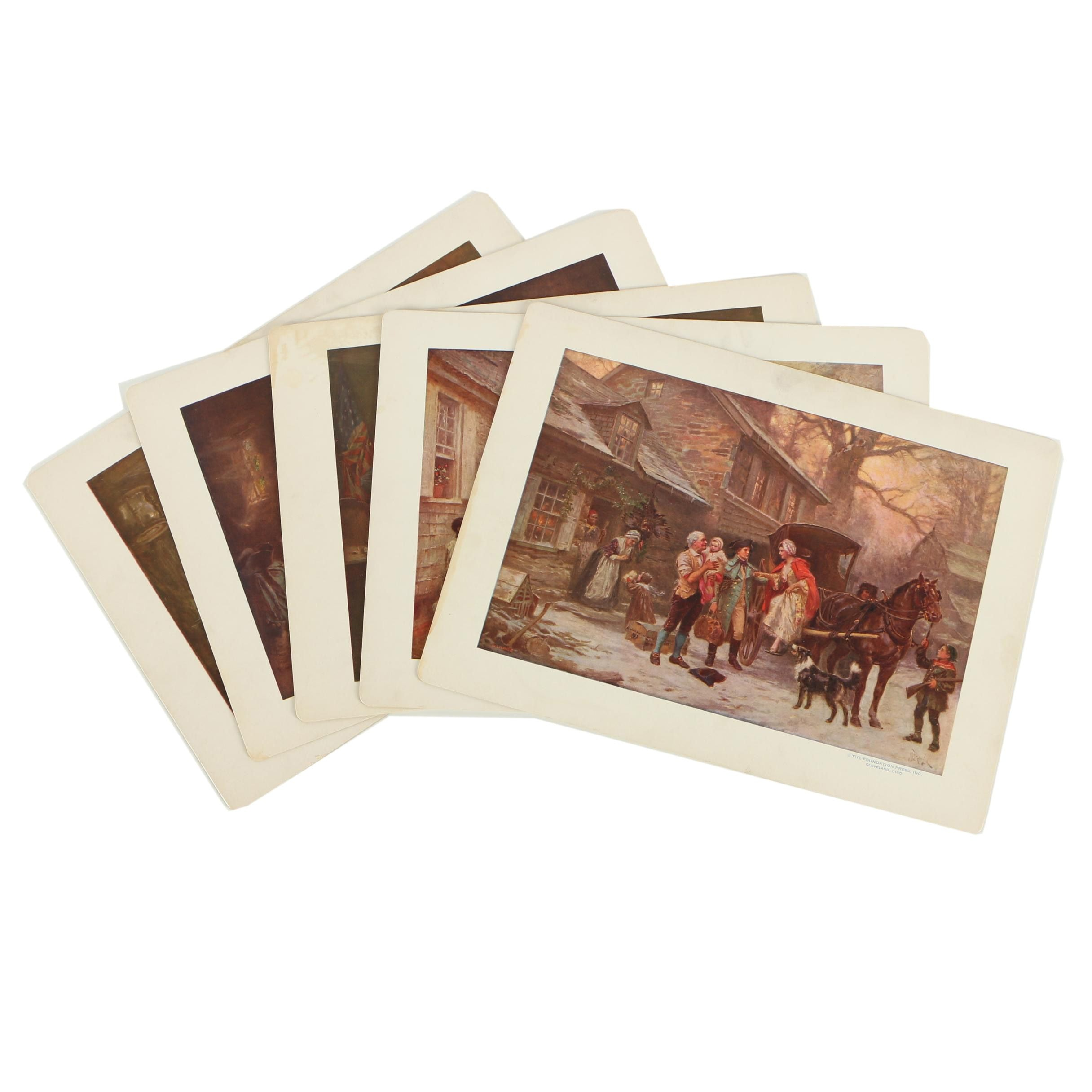"""Offset Lithographs After Jean Leon Gerome Ferris From """"The Pageant of a Nation"""""""