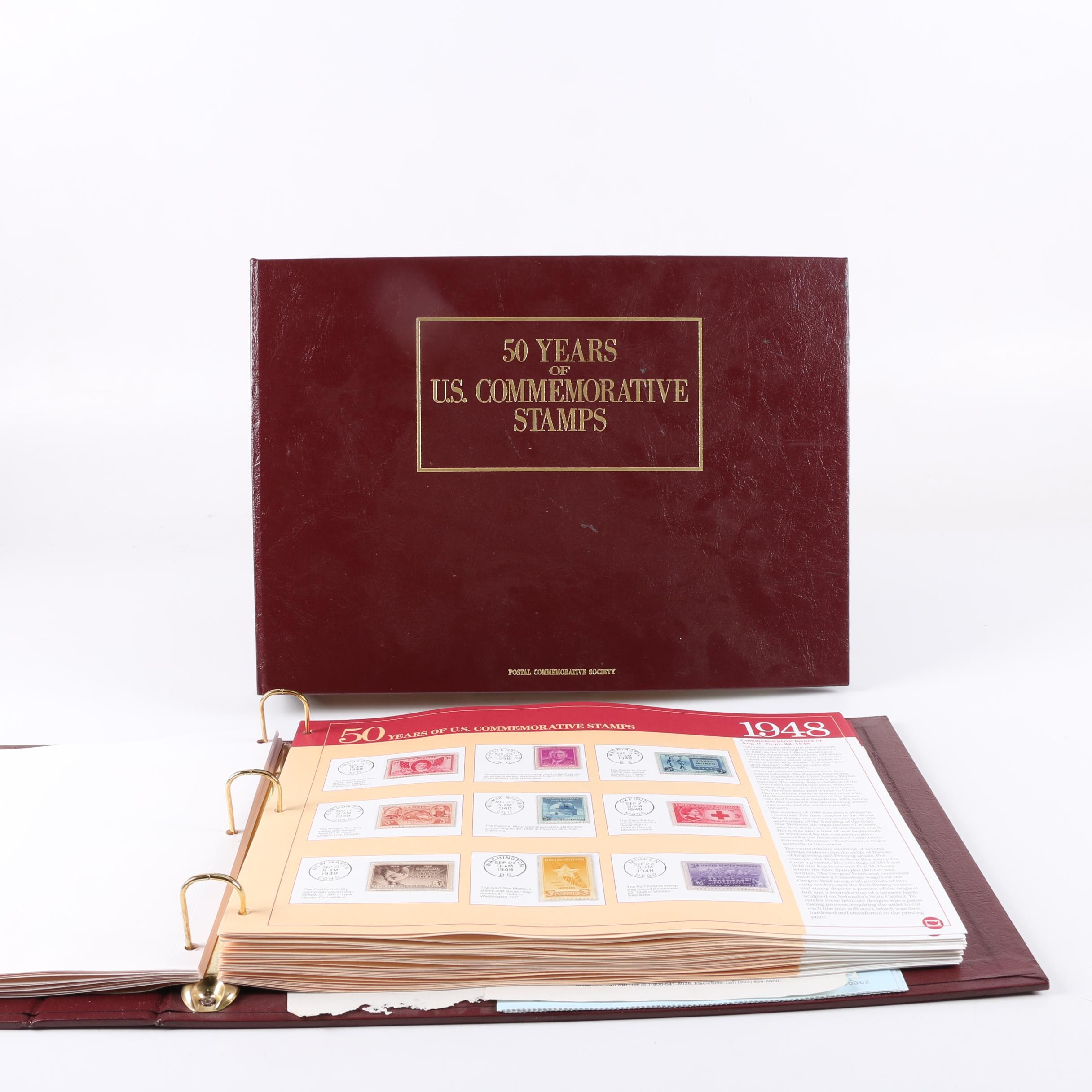"""""""50 Years Of U.S. Commemorative Stamps"""" Albums"""
