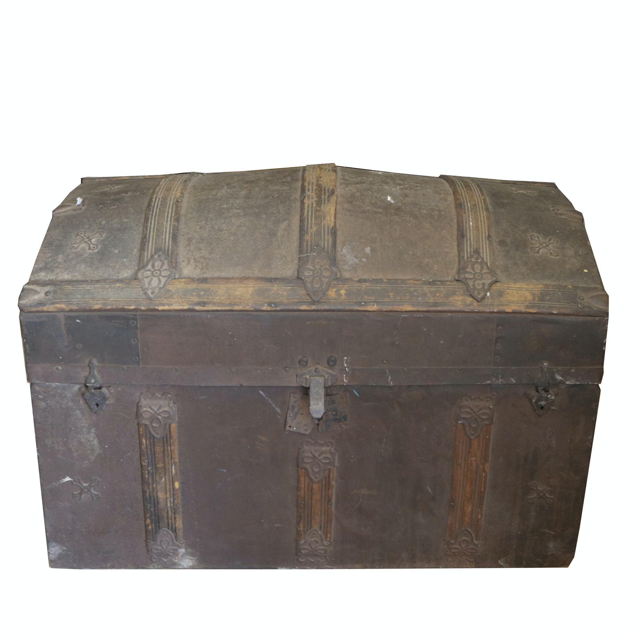 Antique Dome-Top Trunk