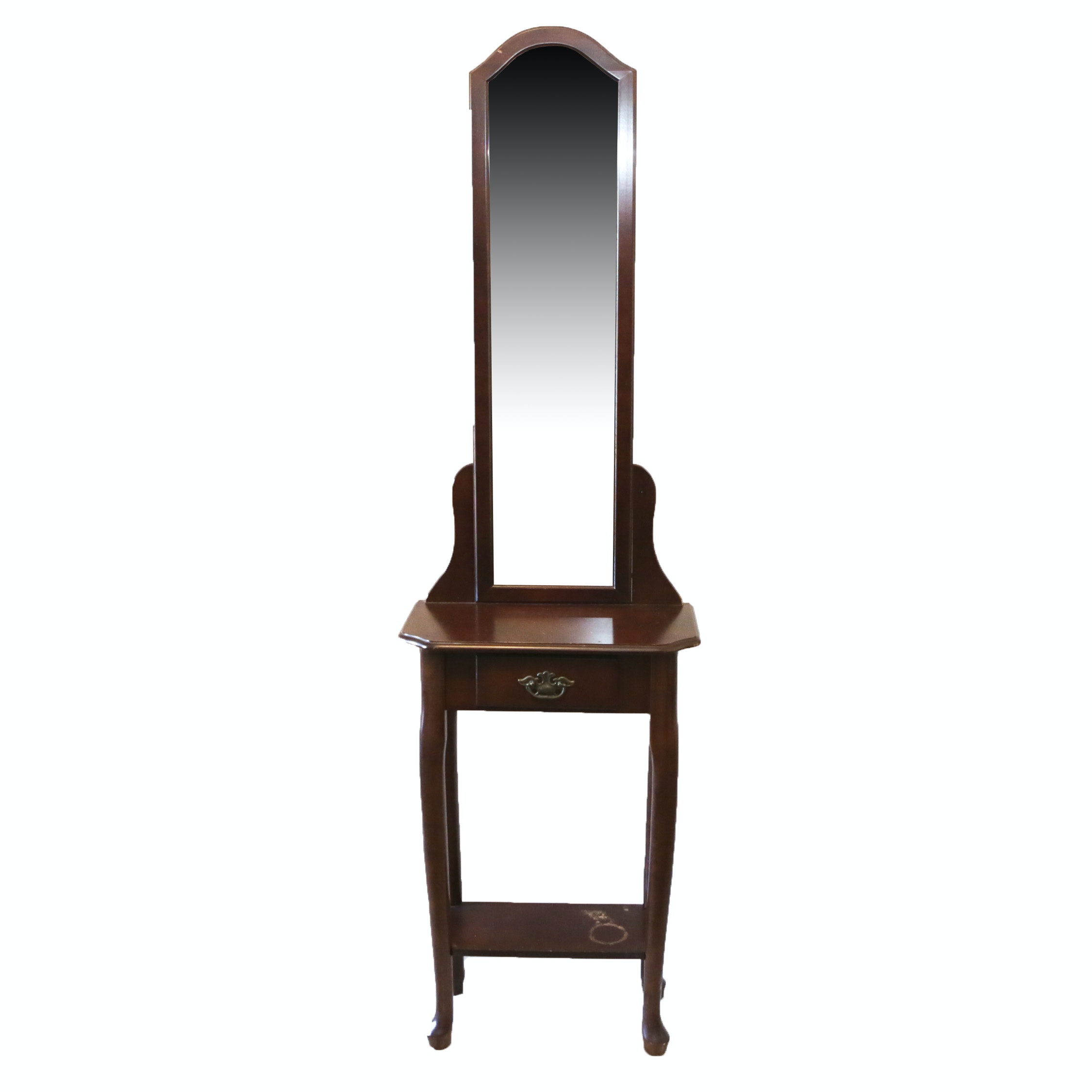 Accent Table with Attached Mirror