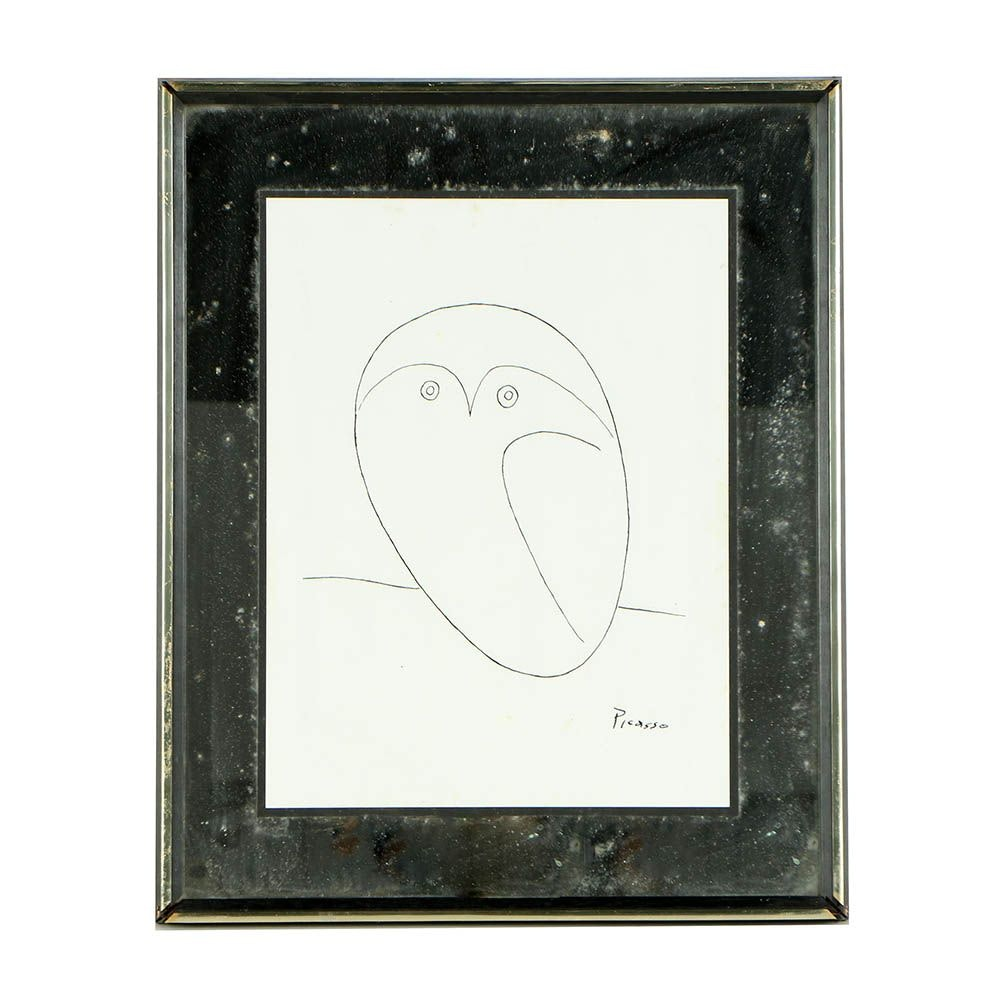 """Serigraph After Pablo Picasso """"Owl"""""""