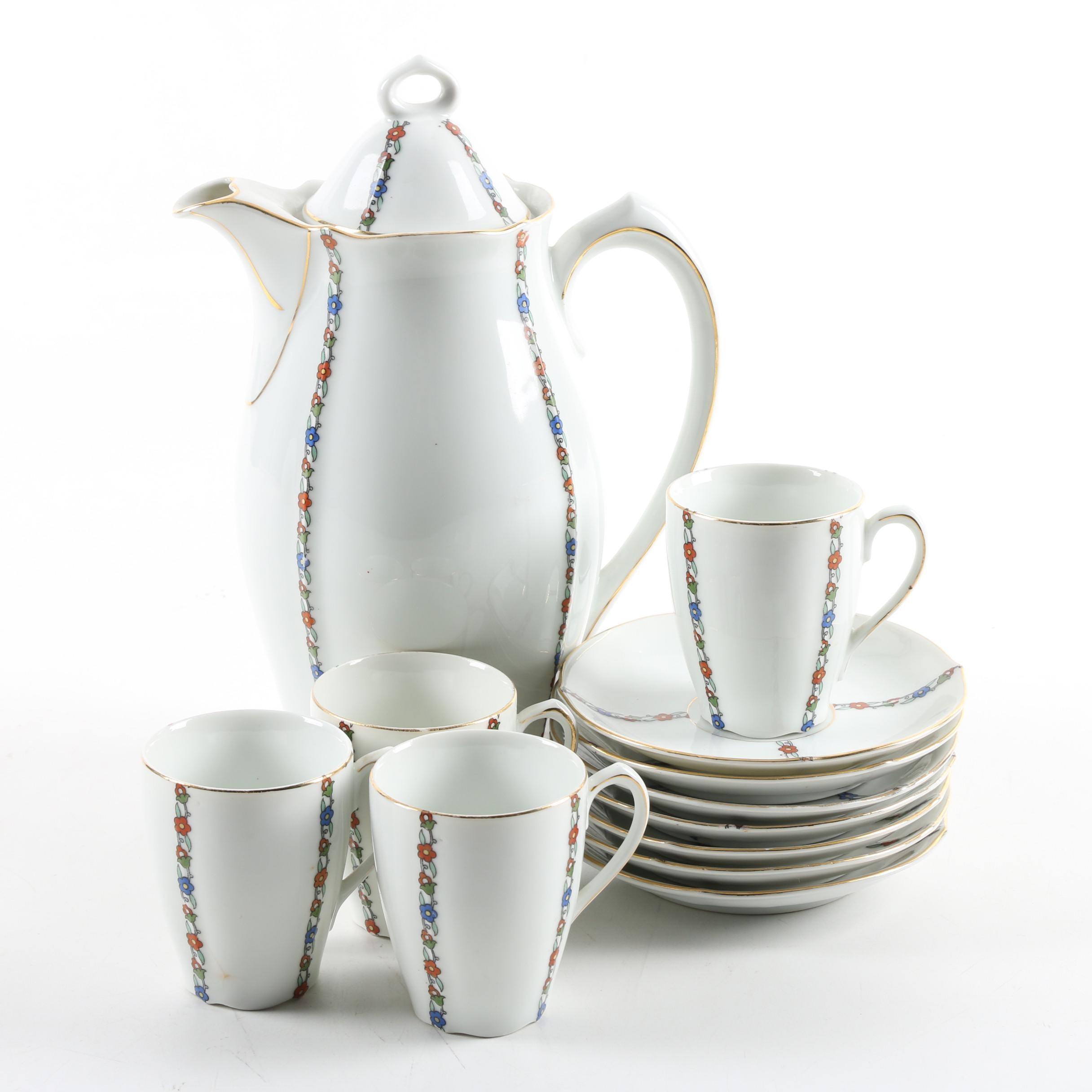 German Porcelain Chocolate Service