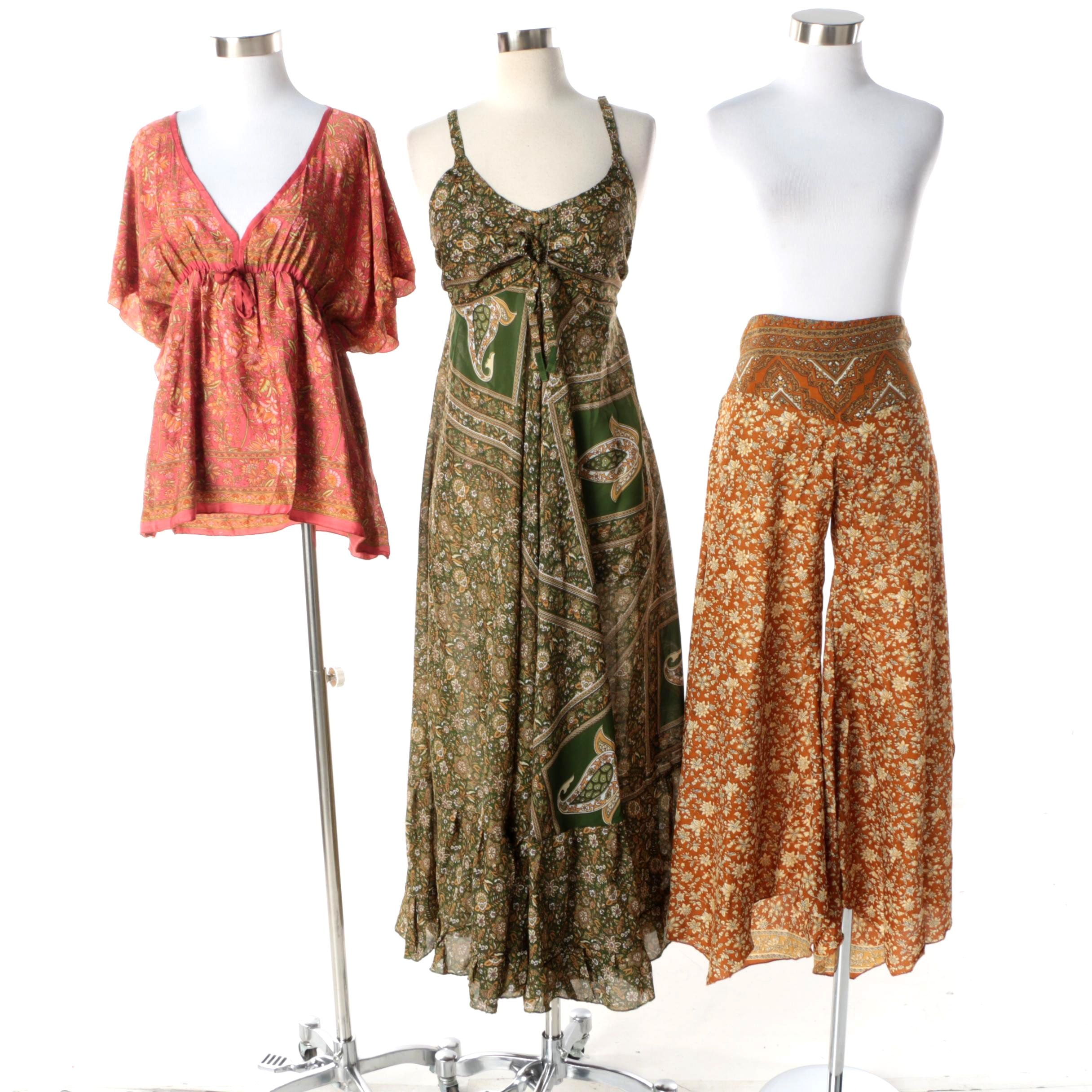 Aller Simplement Floral Separates Made From Upcycled Vintage Saris