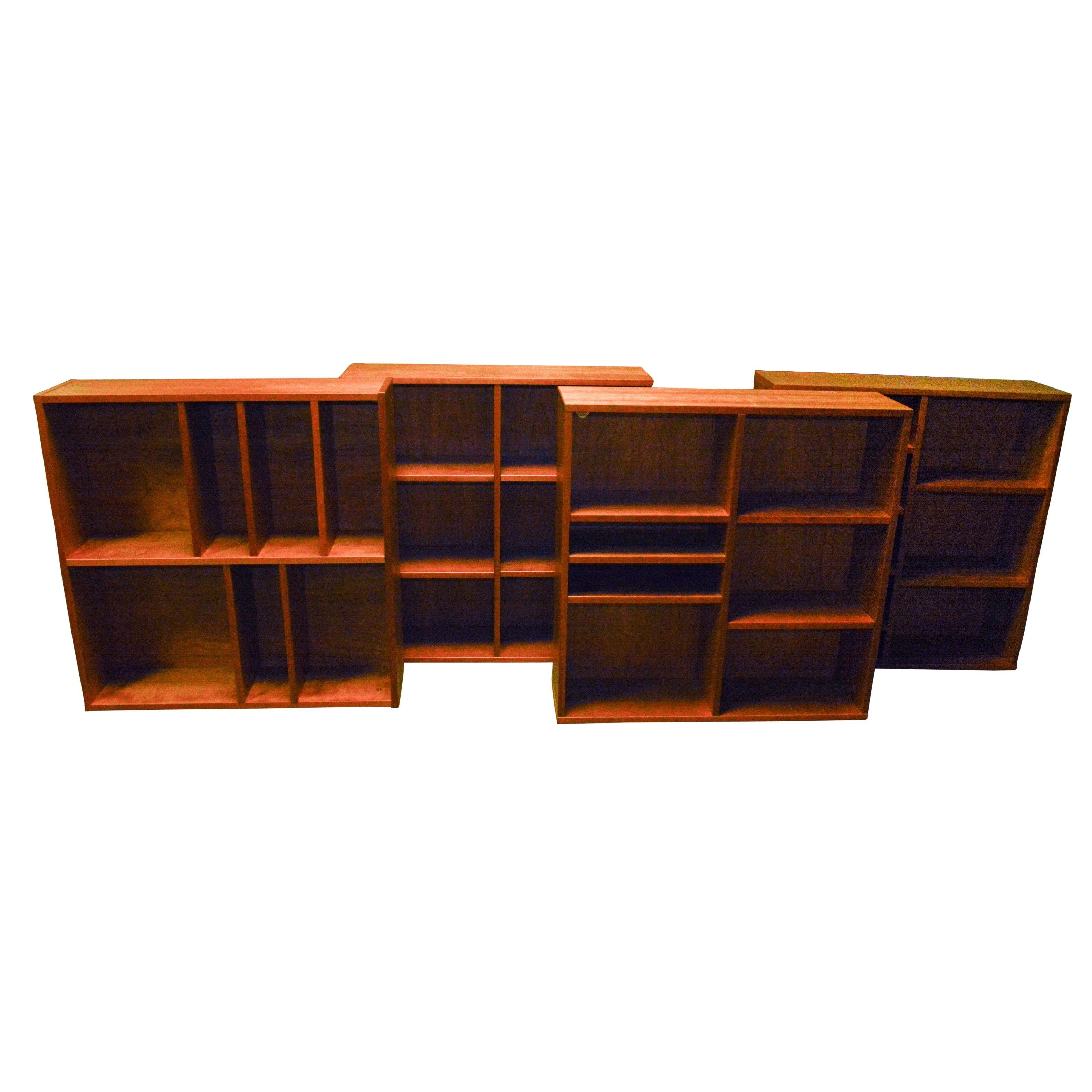 Set of Teak Modular Bookcases