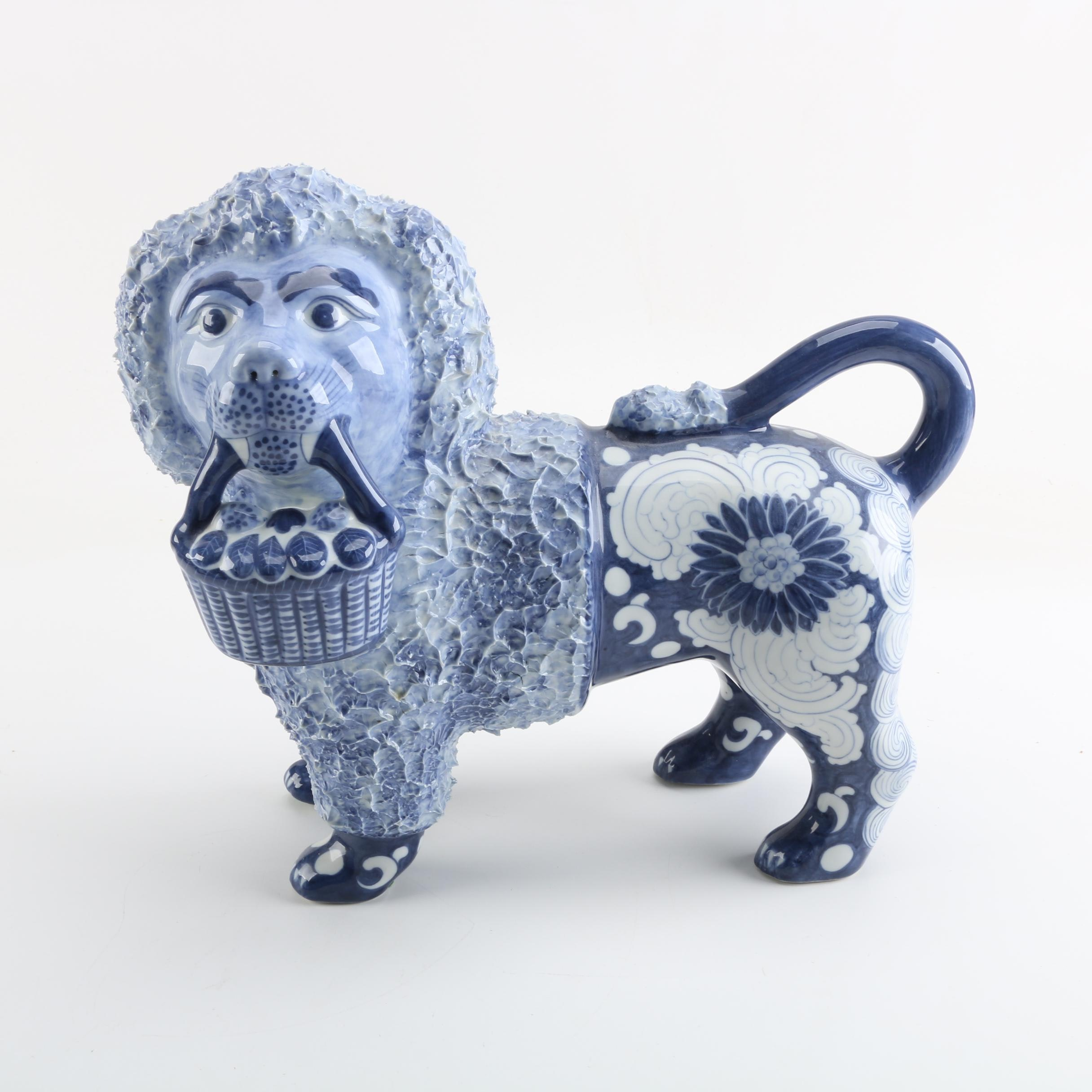 Maitland-Smith Hand-Painted Porcelain Lion