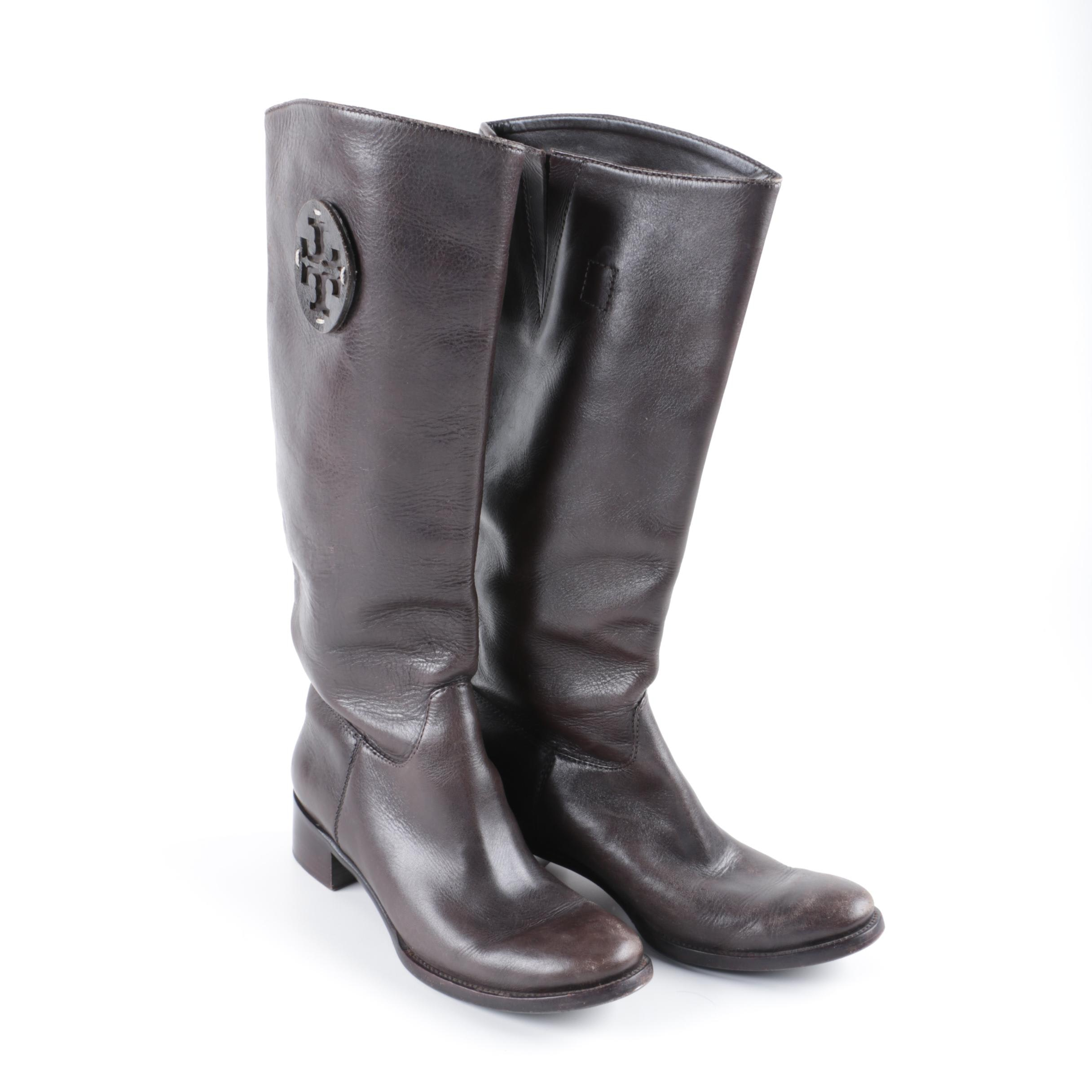 Women's Tory Burch Brown Leather Boots
