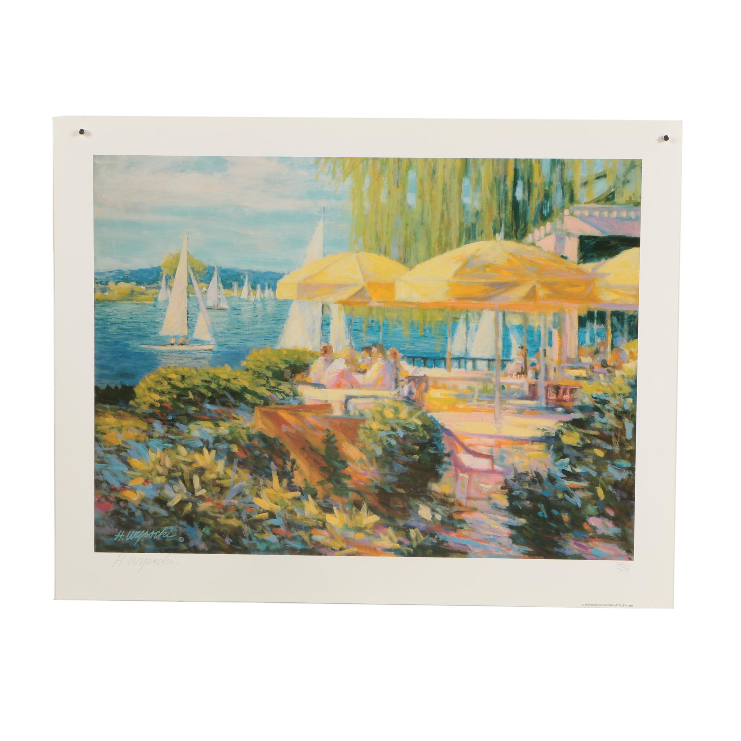 "Harry Wysocki Limited Edition Offset Lithograph ""Parasols"""