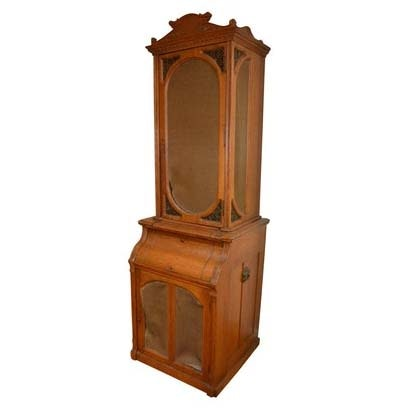 Vintage Oak Storage Cabinet