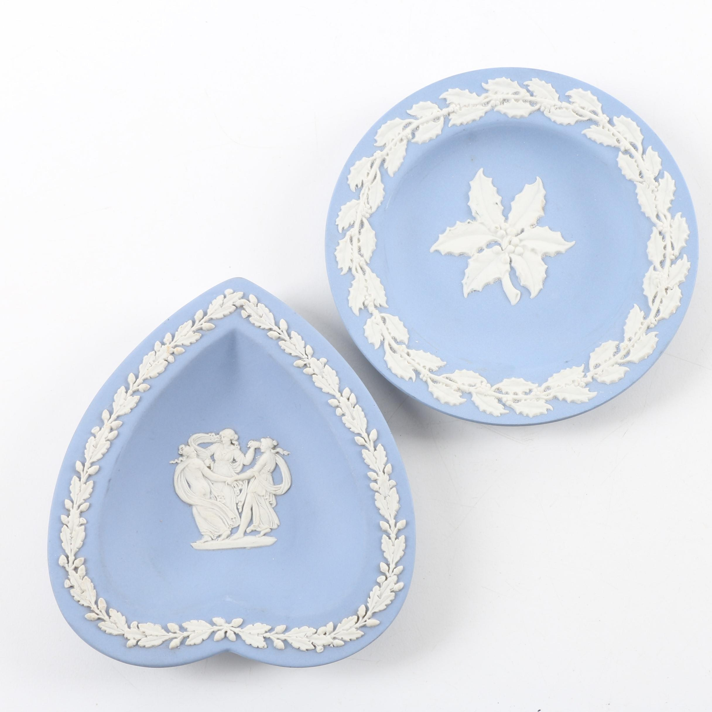 Wedgwood Blue Jasperware Trinket Dishes