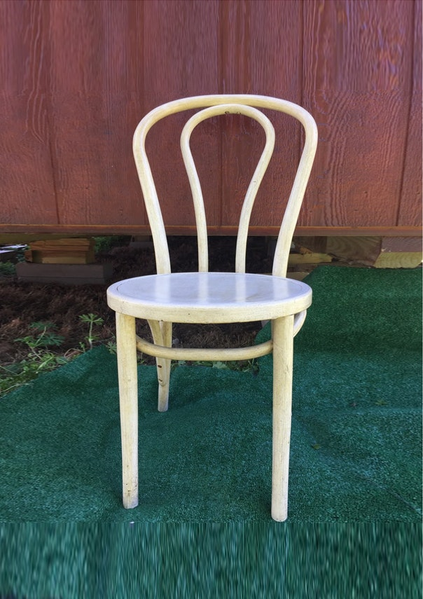 Vintage Painted Bentwood Parlor Chair