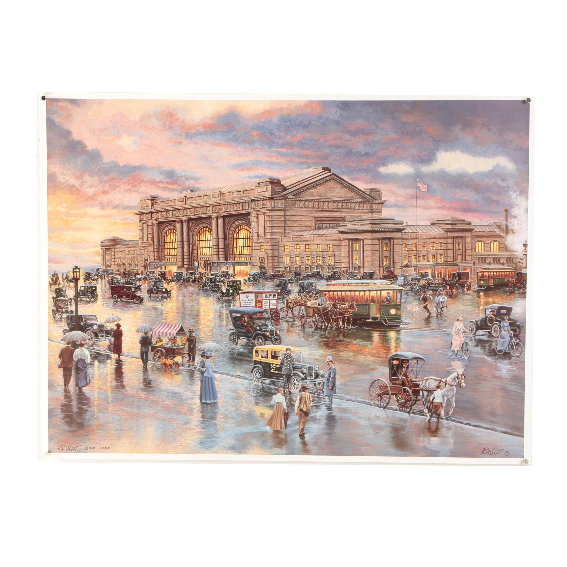 R.A. Short Limited Edition Offset Lithograph Print of Kansas City, Missouri