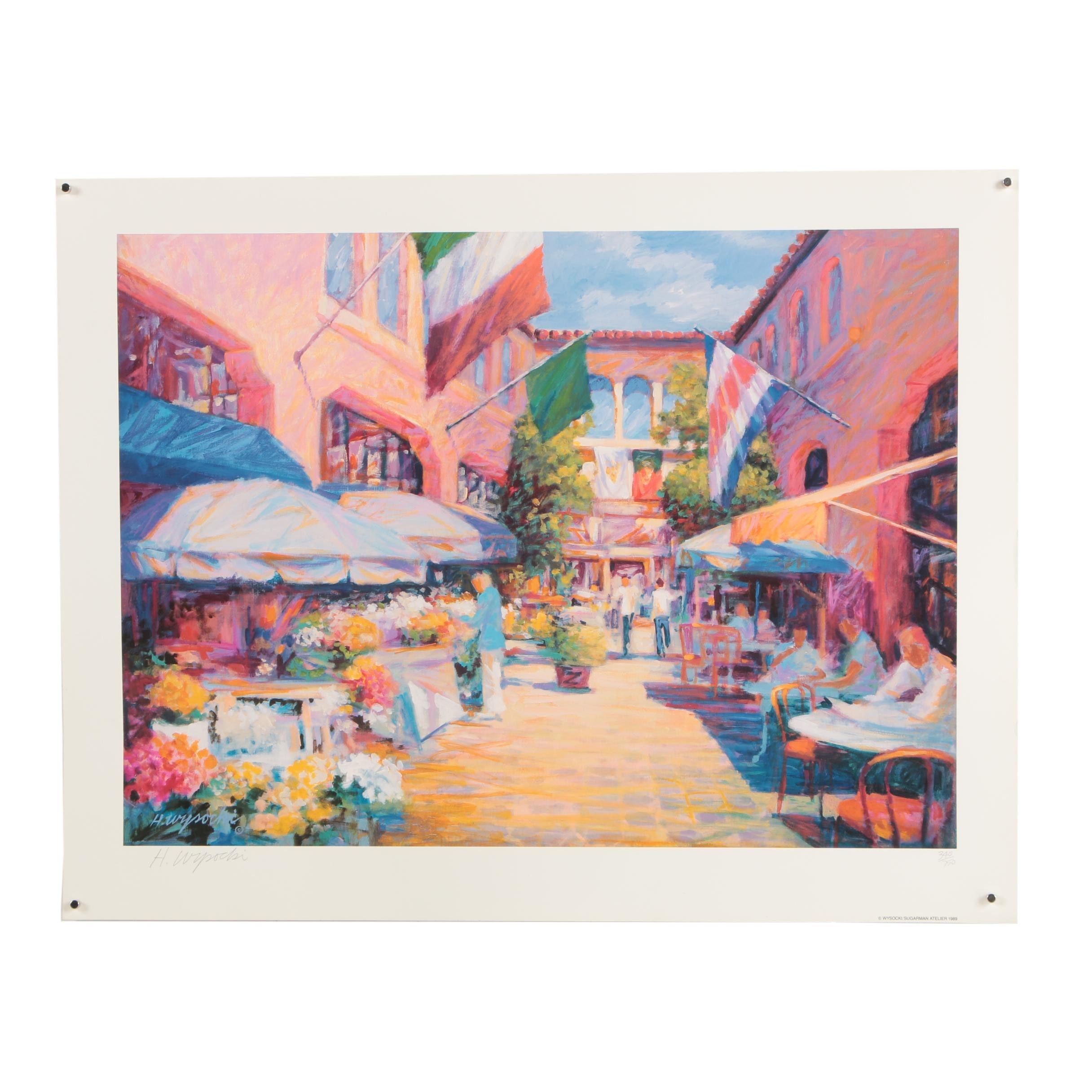 "Harry Wysocki Limited Edition Offset Lithograph ""El Paseo"""