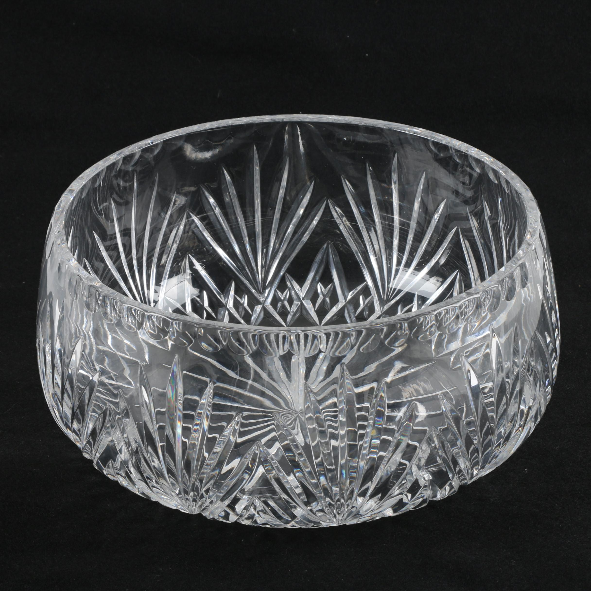 Floral and Star Crystal Bowl