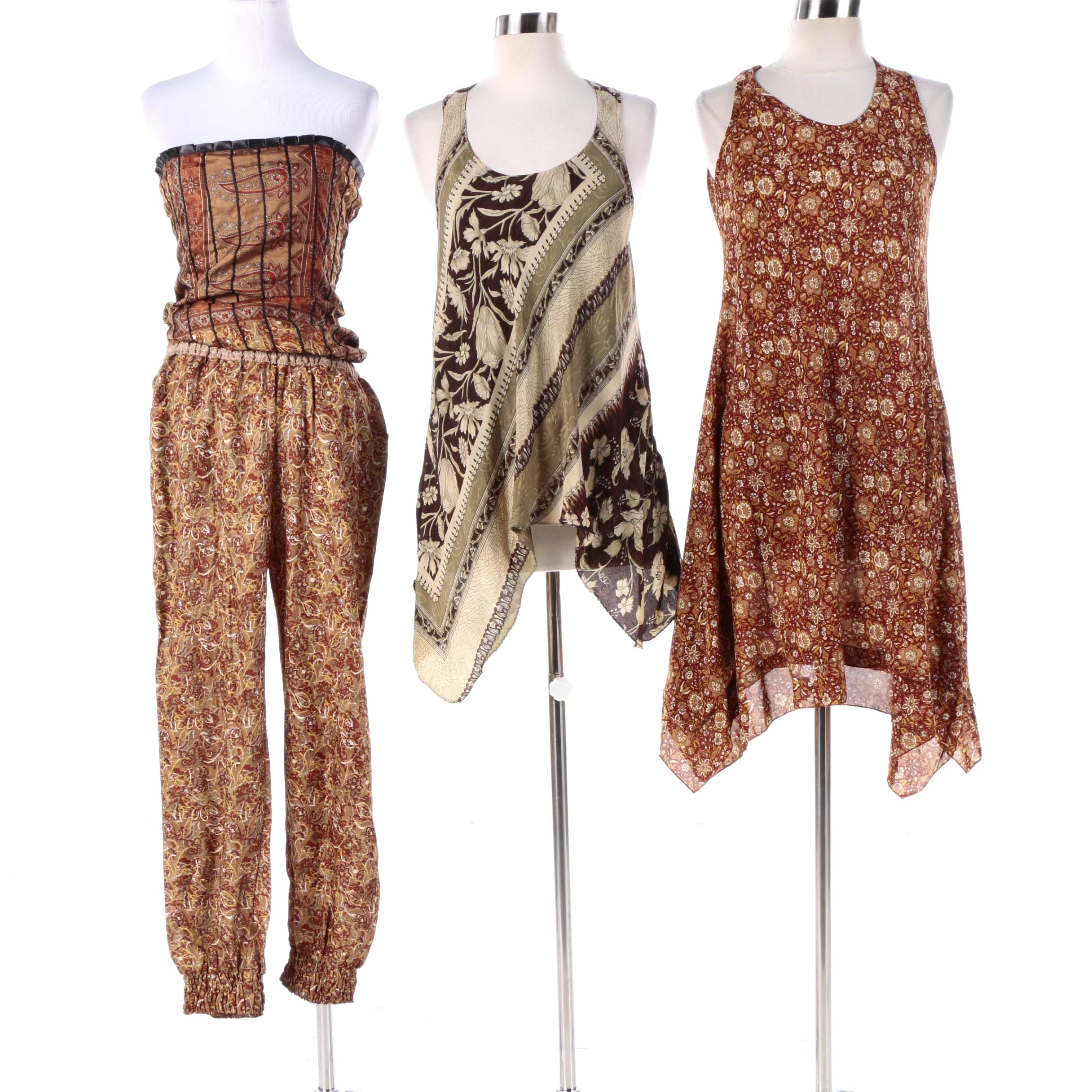 Aller Simplement Tunic Top, Dress and Jumpsuit Made From Upcycled Vintage Saris