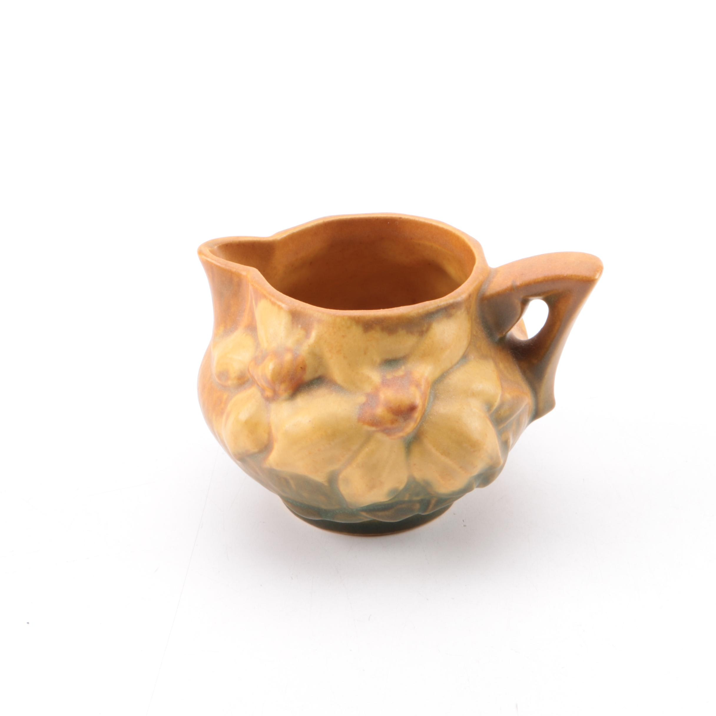 "Roseville Pottery ""Clematis Brown"" Creamer"