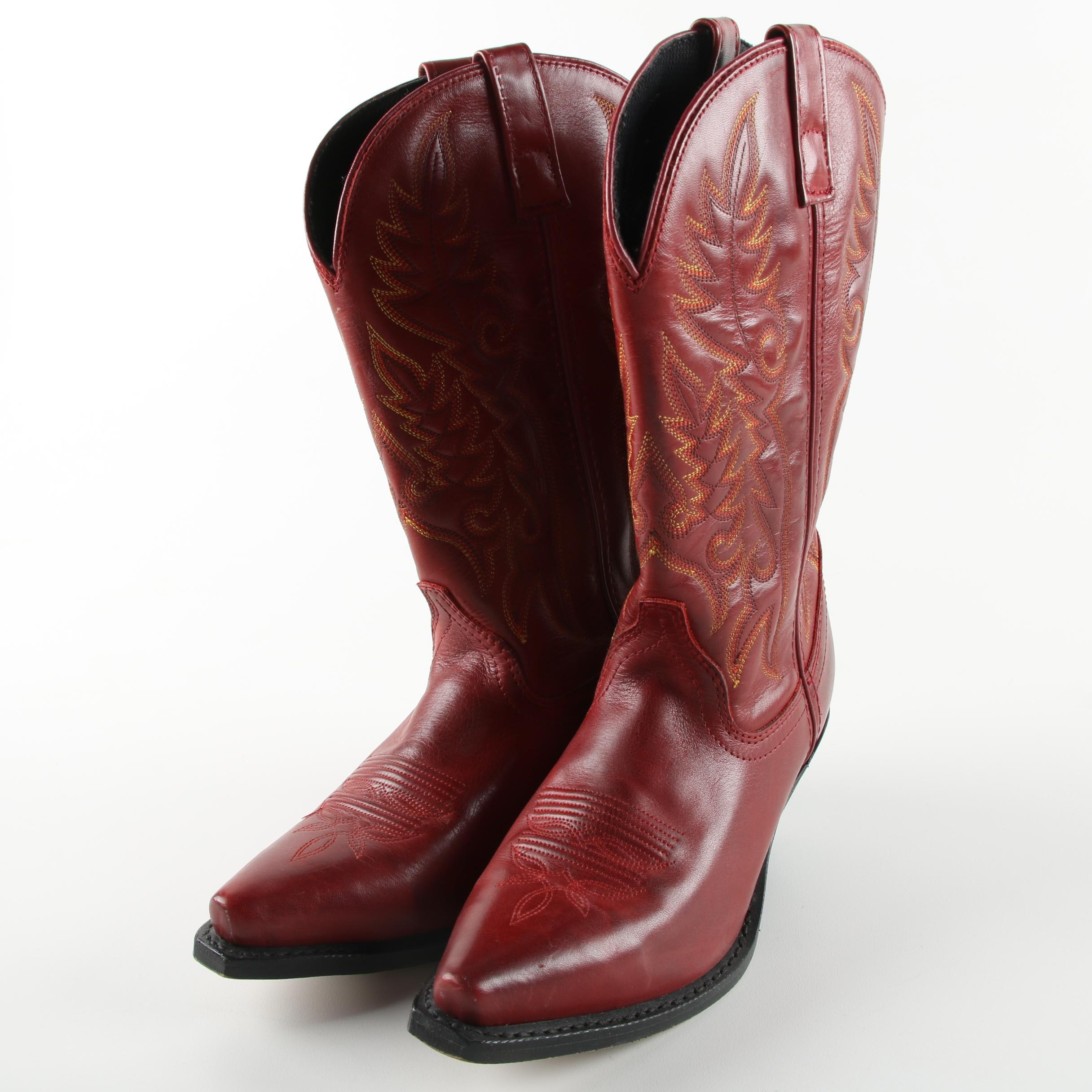 Women's Laredo Red Leather Western Boots