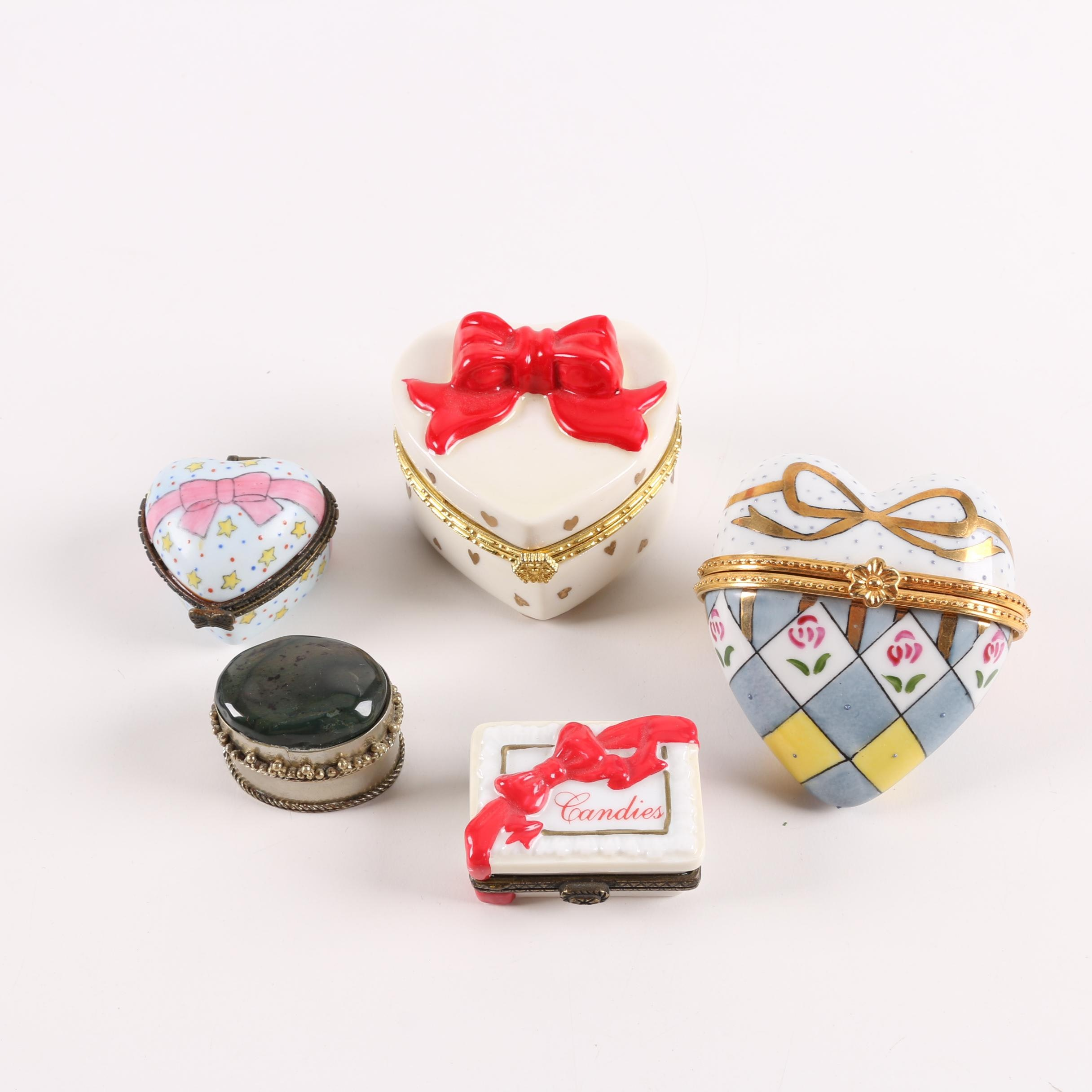 Hand-Painted Porcelain Trinket Boxes