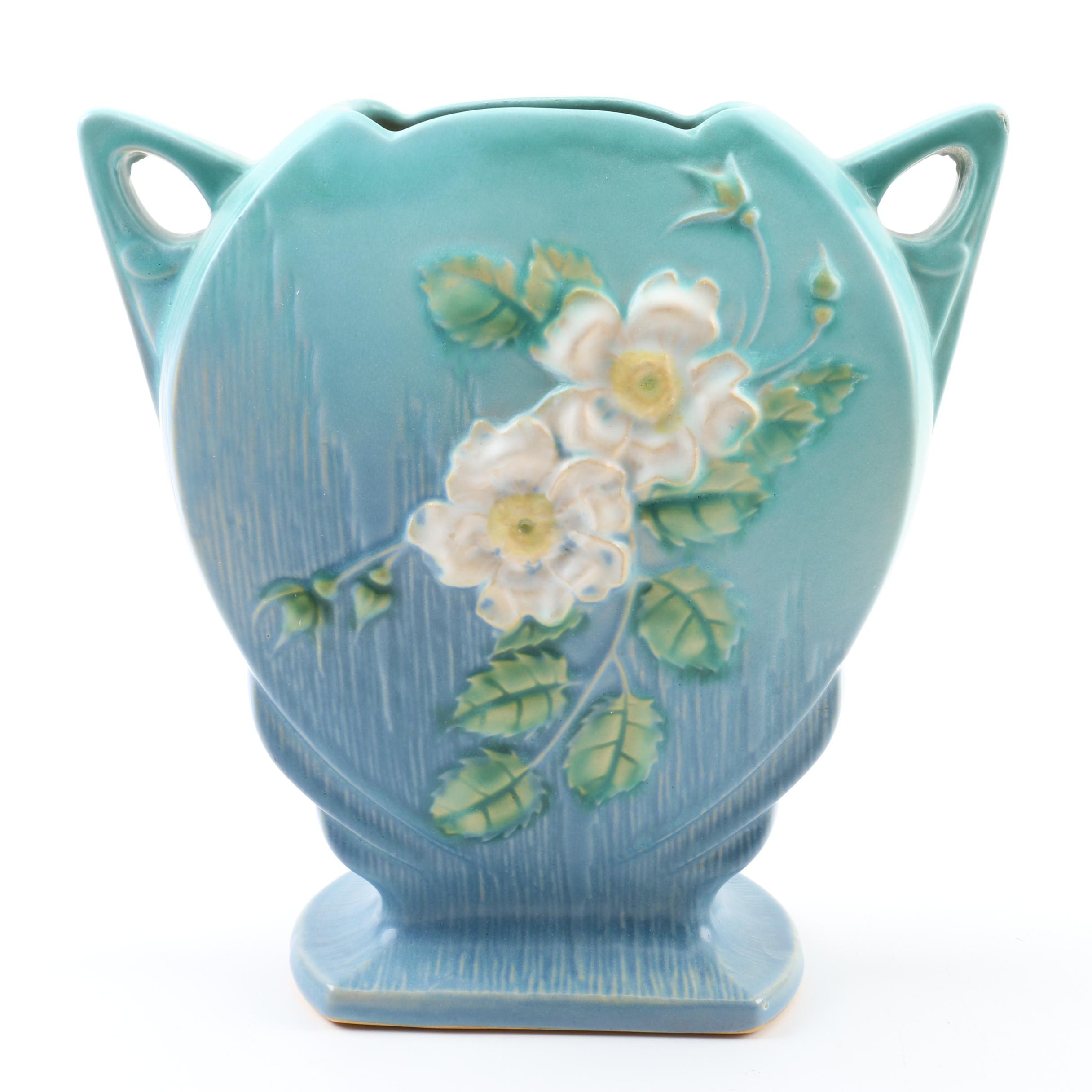 "Roseville ""White Rose"" Vase"