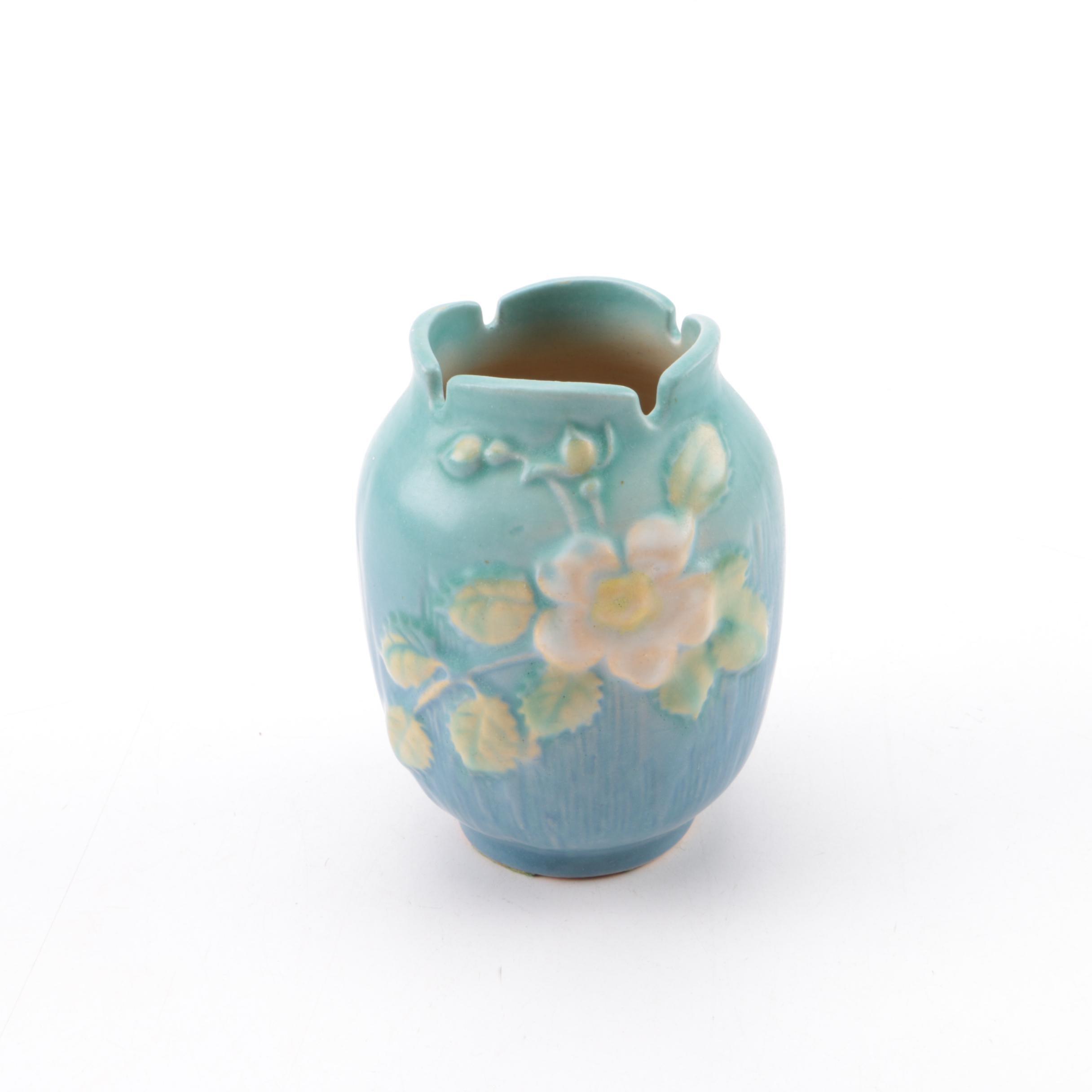 """Roseville Pottery """"White Rose"""" Vase"""