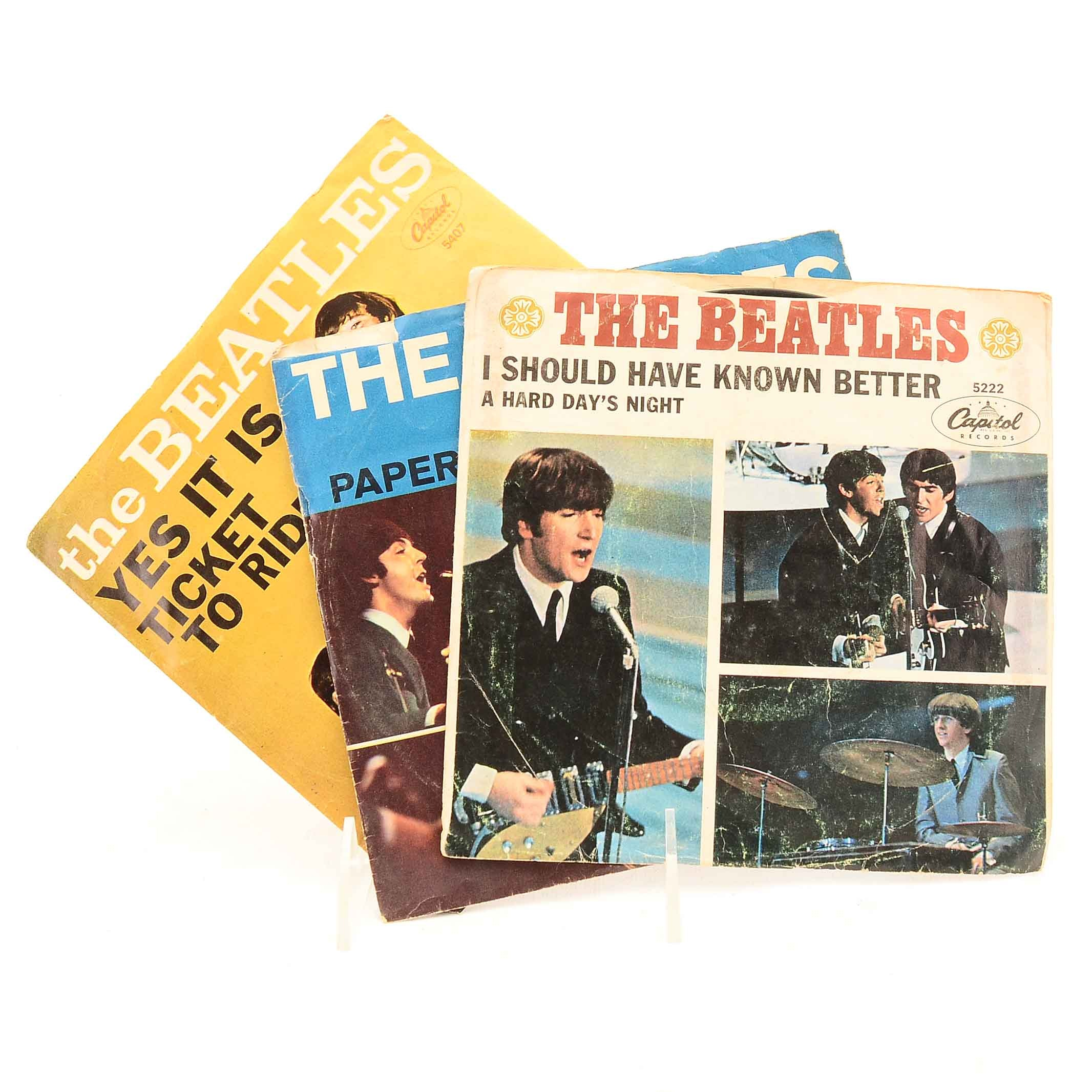 Collection of Beatles Single Releases