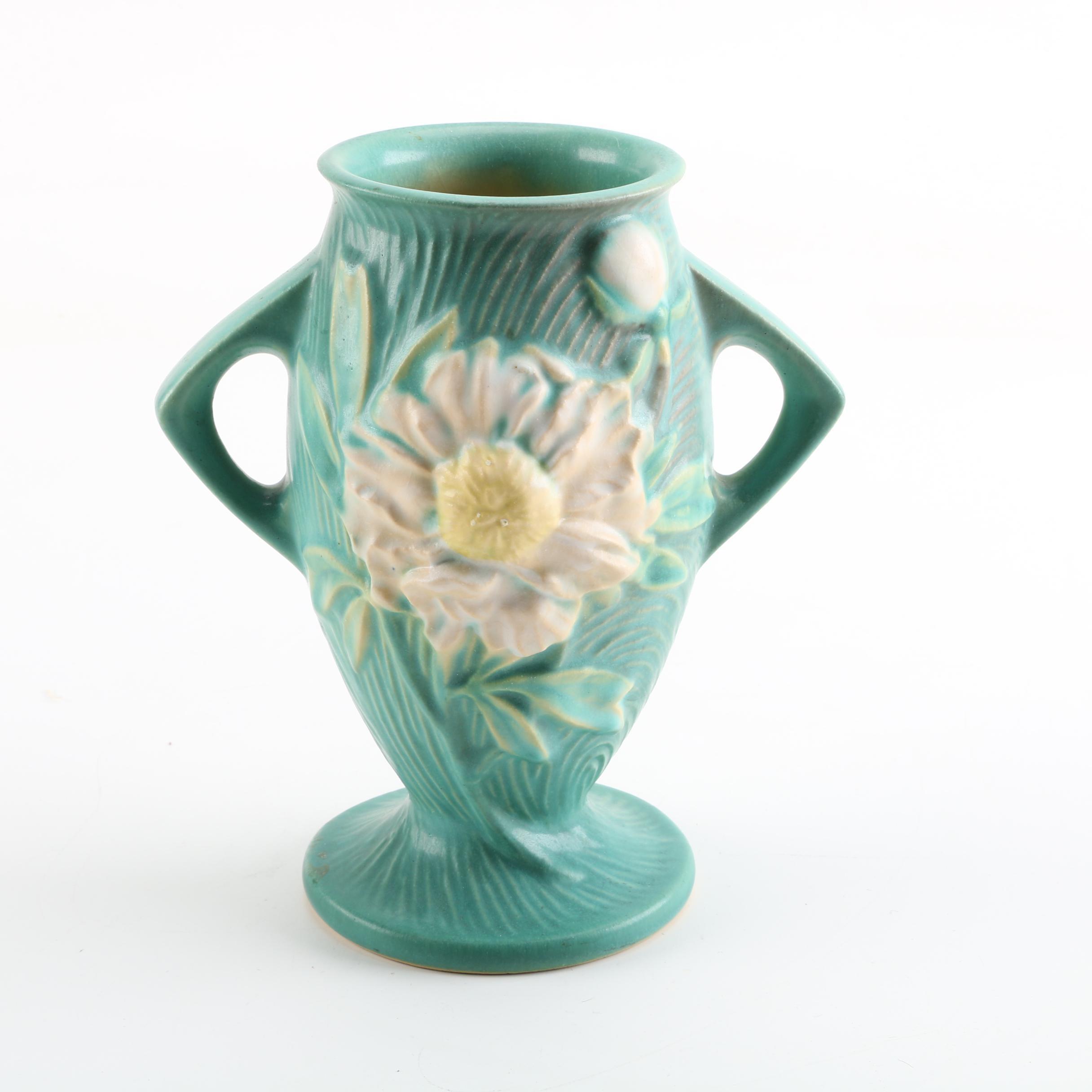 """Roseville Pottery """"Peony"""" Vase"""