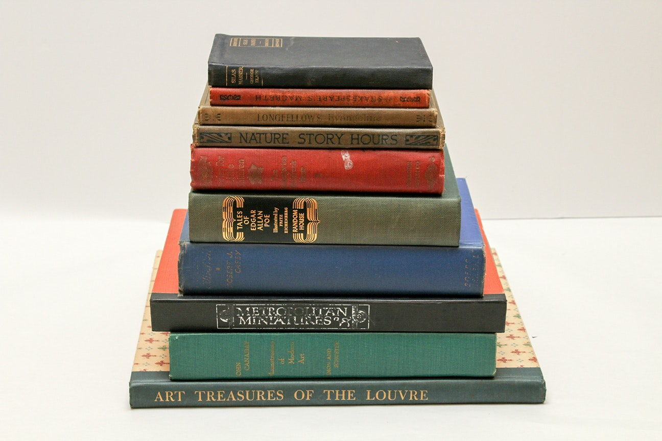 Vintage and Antique Art and Literature Hardback Books