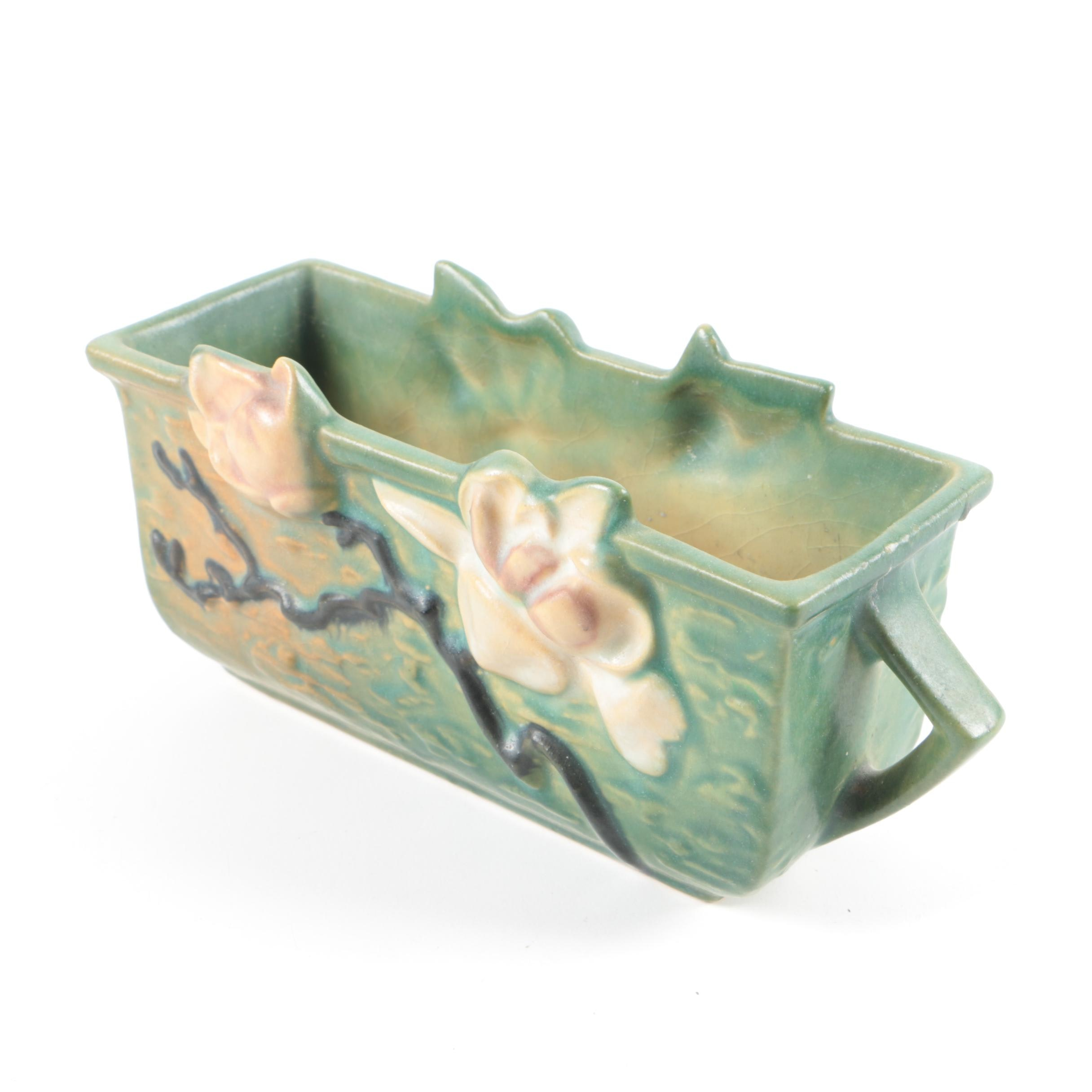 "1940s Roseville Pottery ""Magnolia"" Window Box"