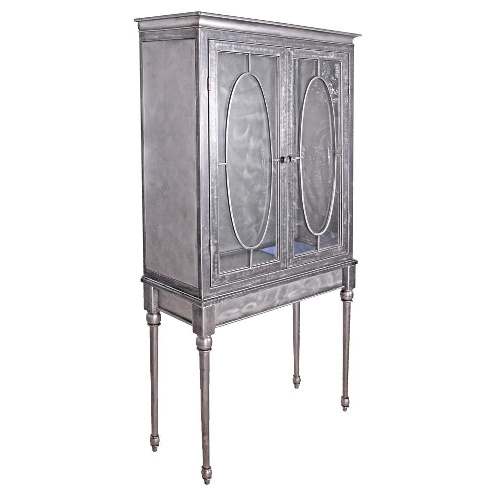 Dark Metal Highboy Cabinet