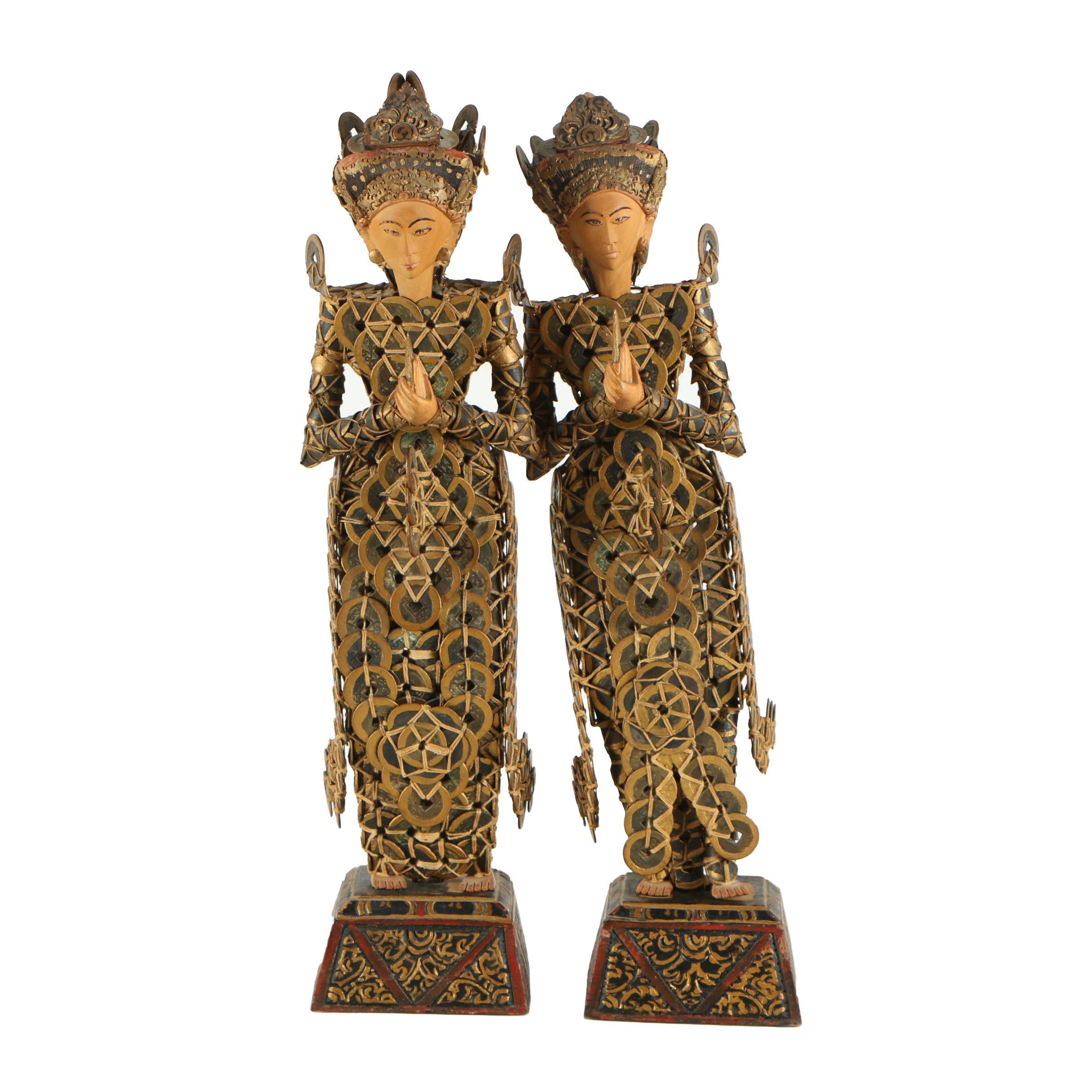Balinese Kepeng Coin Statues