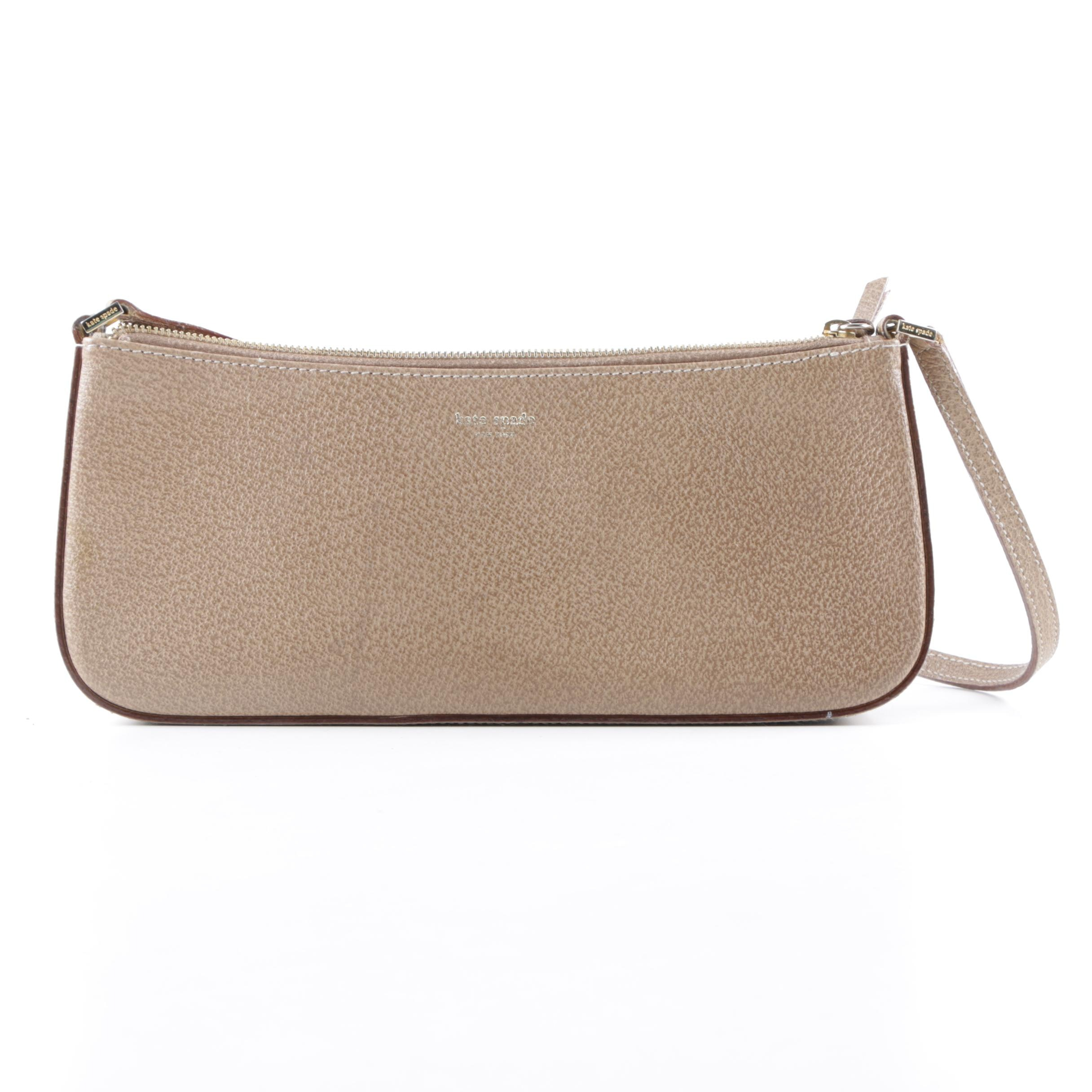 Kate Spade New York Tan Leather Baguette
