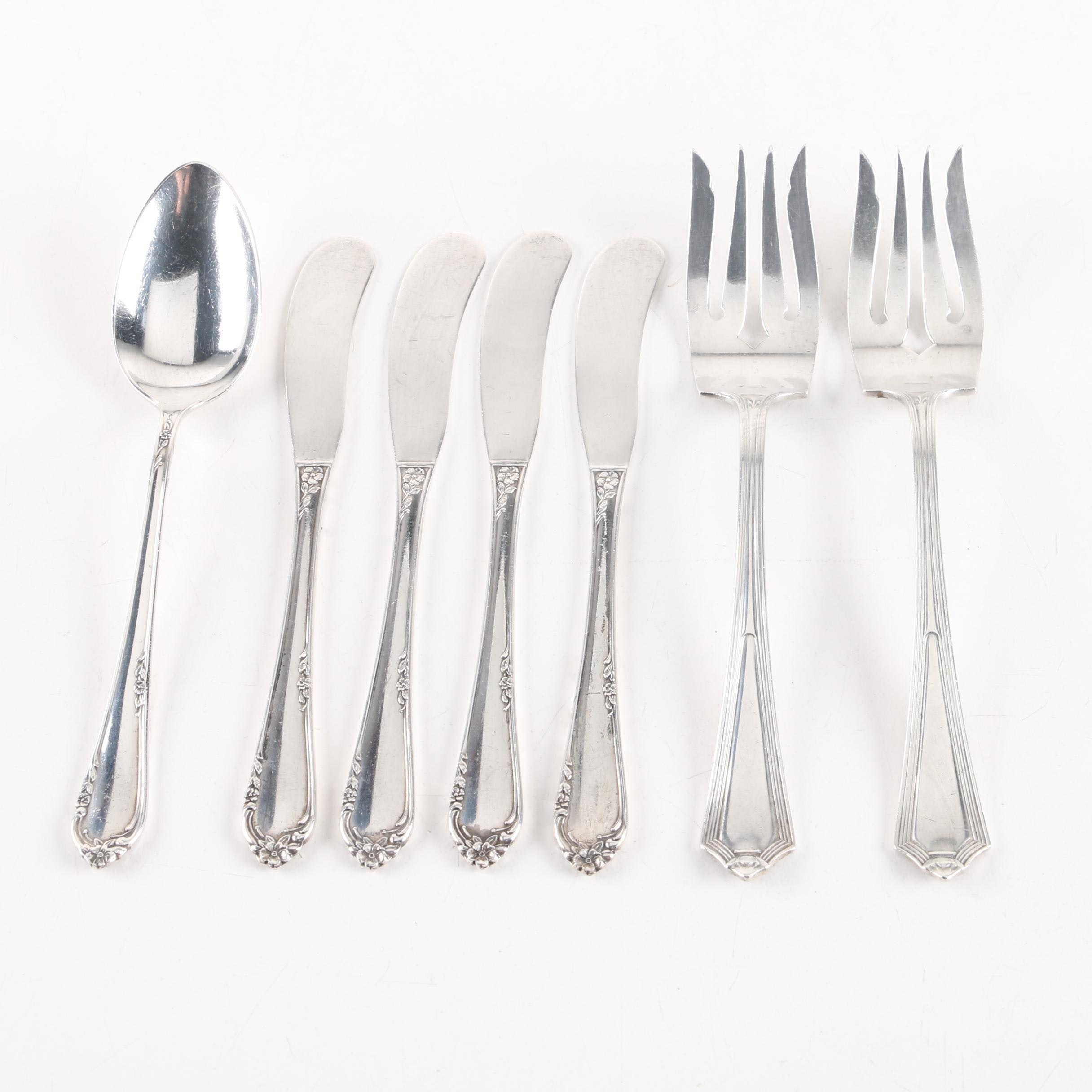 """Reed & Barton """"Dancing Flowers"""" and Gorham """"Plymouth"""" Sterling Silver Flatware"""