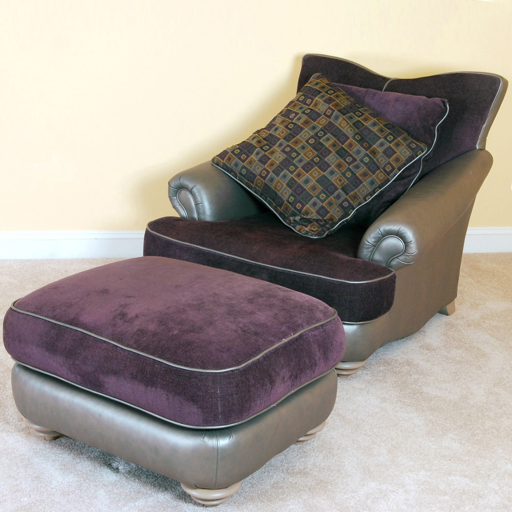 Lounge Chair and Ottoman by Thayer Coggin