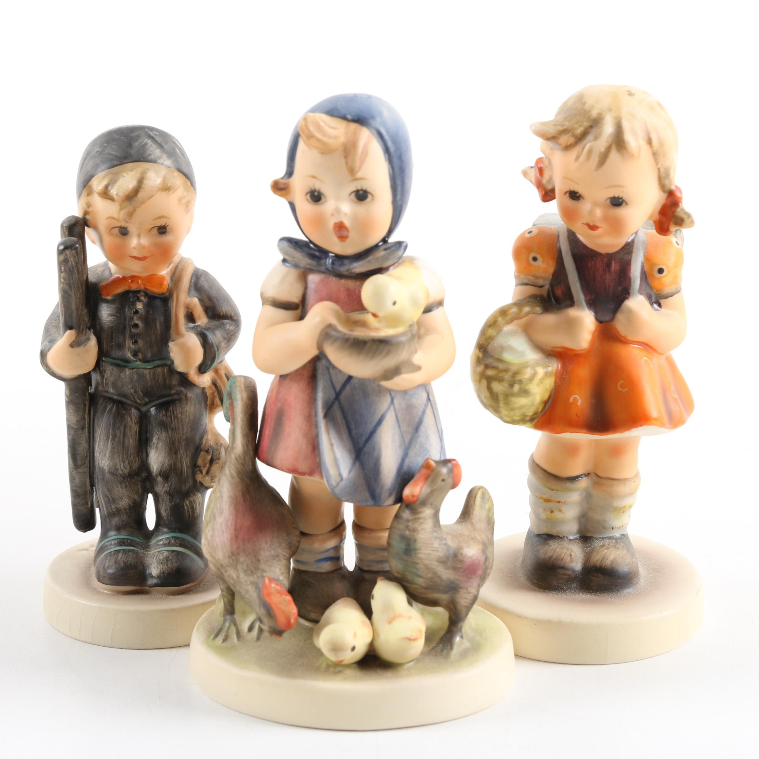 "Goebel Figurines Including ""Feeding Time"""