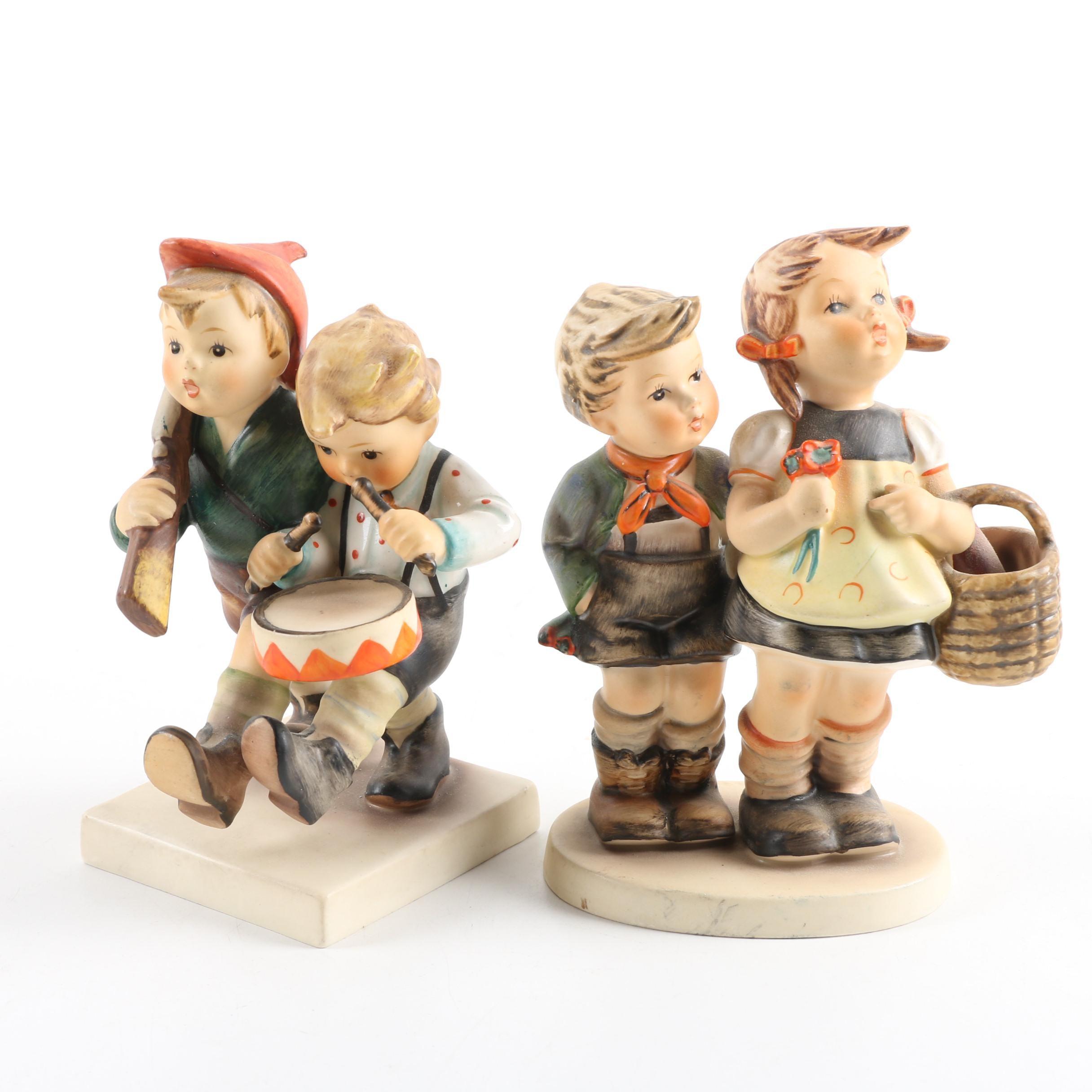 "Hummel ""To Market"" and ""Volunteers"" Figurines"