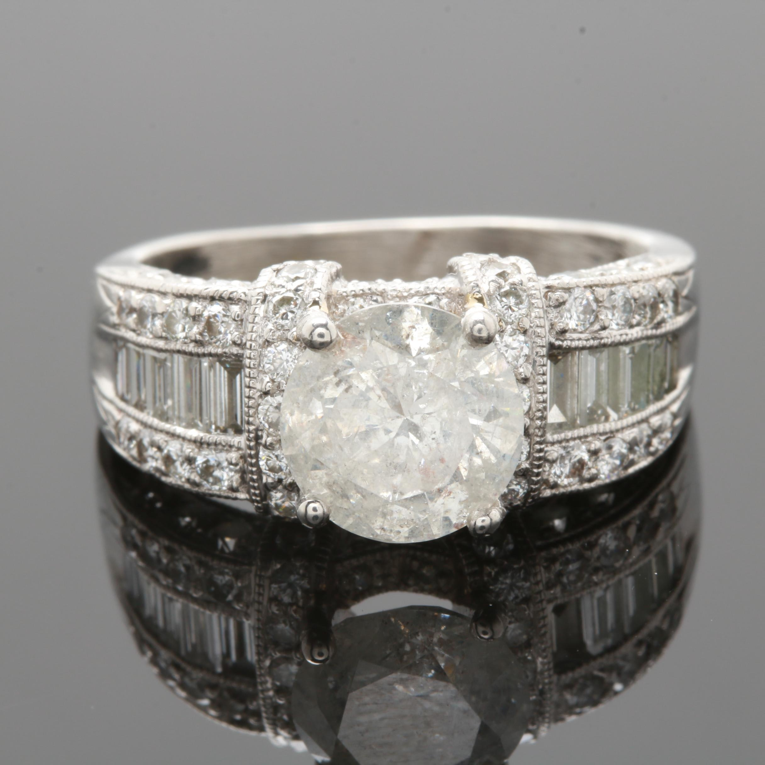 Platinum 3.34 CTW Diamond Ring