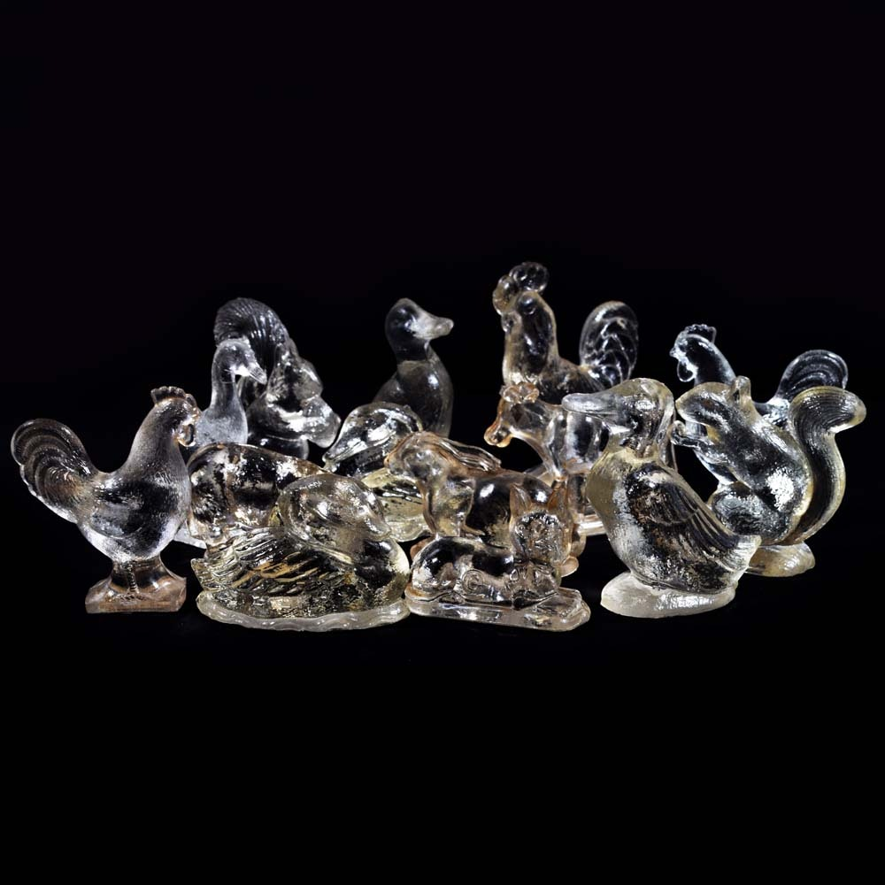 Vintage Miniature Glass Animal Figurines