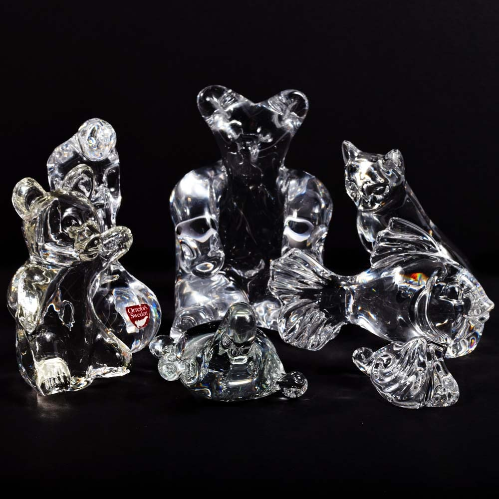 Crystal Figurines Featuring Lenox and Orrefors Sweden